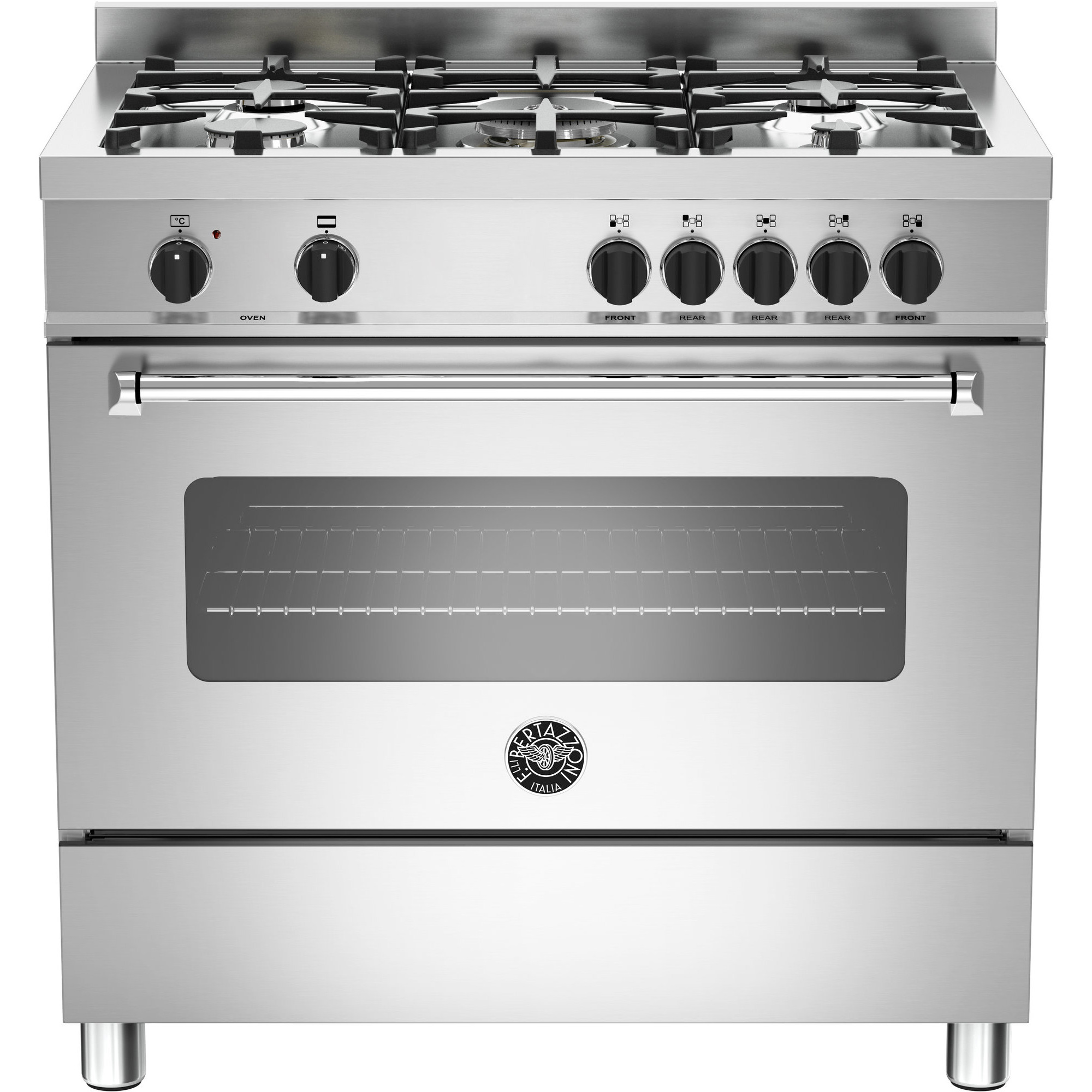 Bertazzoni MAS905 Gasspis 90 cm 1 ugn 5 brännare modell XE Rostfri
