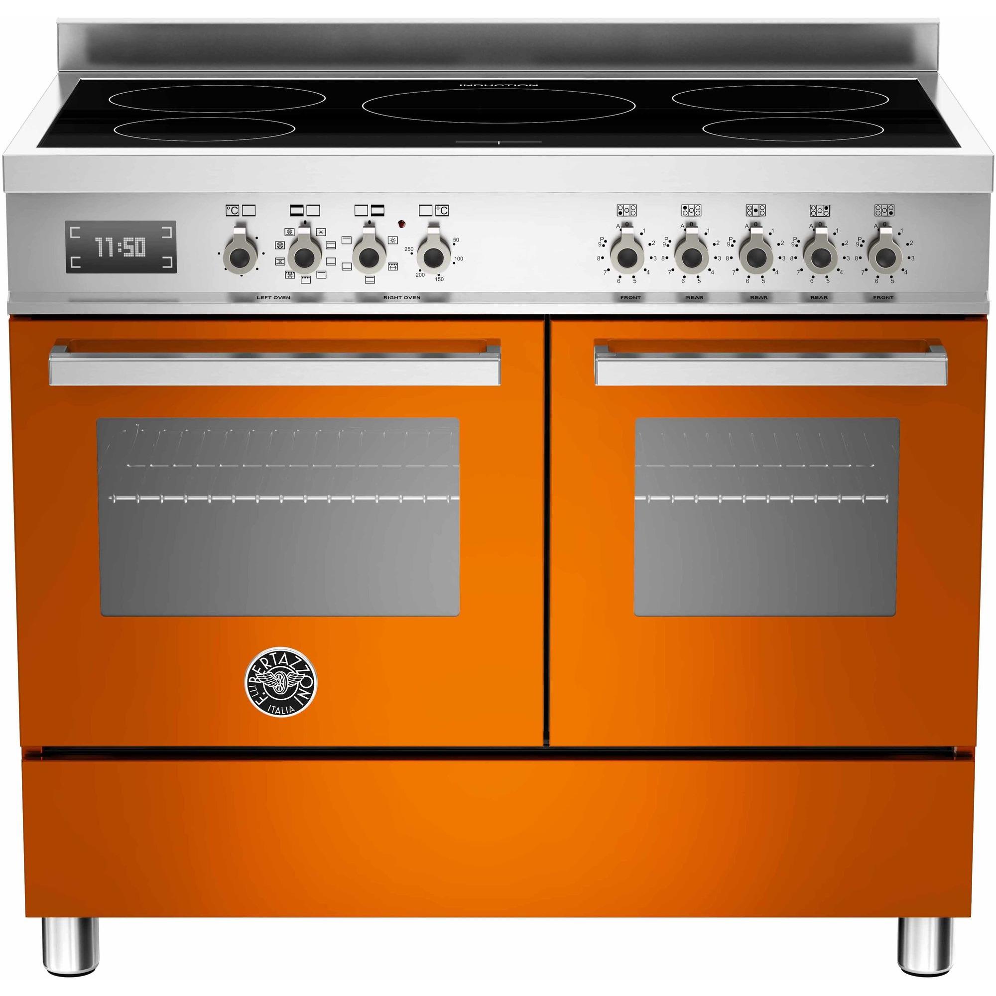 Bertazzoni PRO1005 Induktionsspis 100 cm 2 ugnar 5 zoner Orange