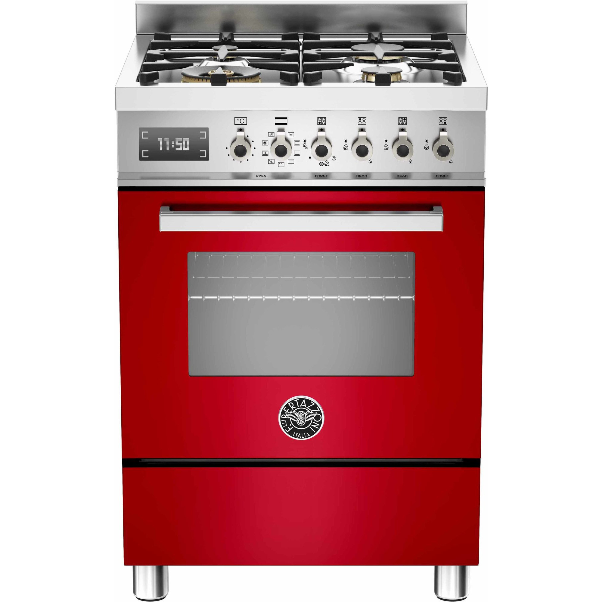 Bertazzoni PRO604 Gasspis 60 cm 1 ugn 4 brännare röd