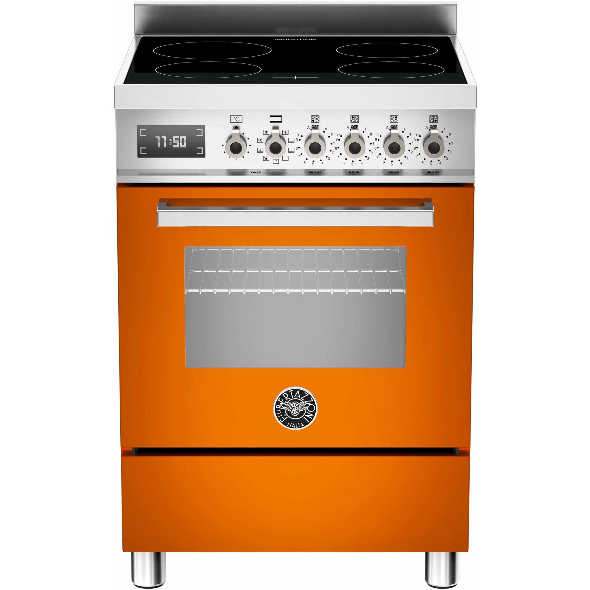 Bertazzoni PRO604 Induktionsspis 60 cm 1 ugn 4 zoner Orange
