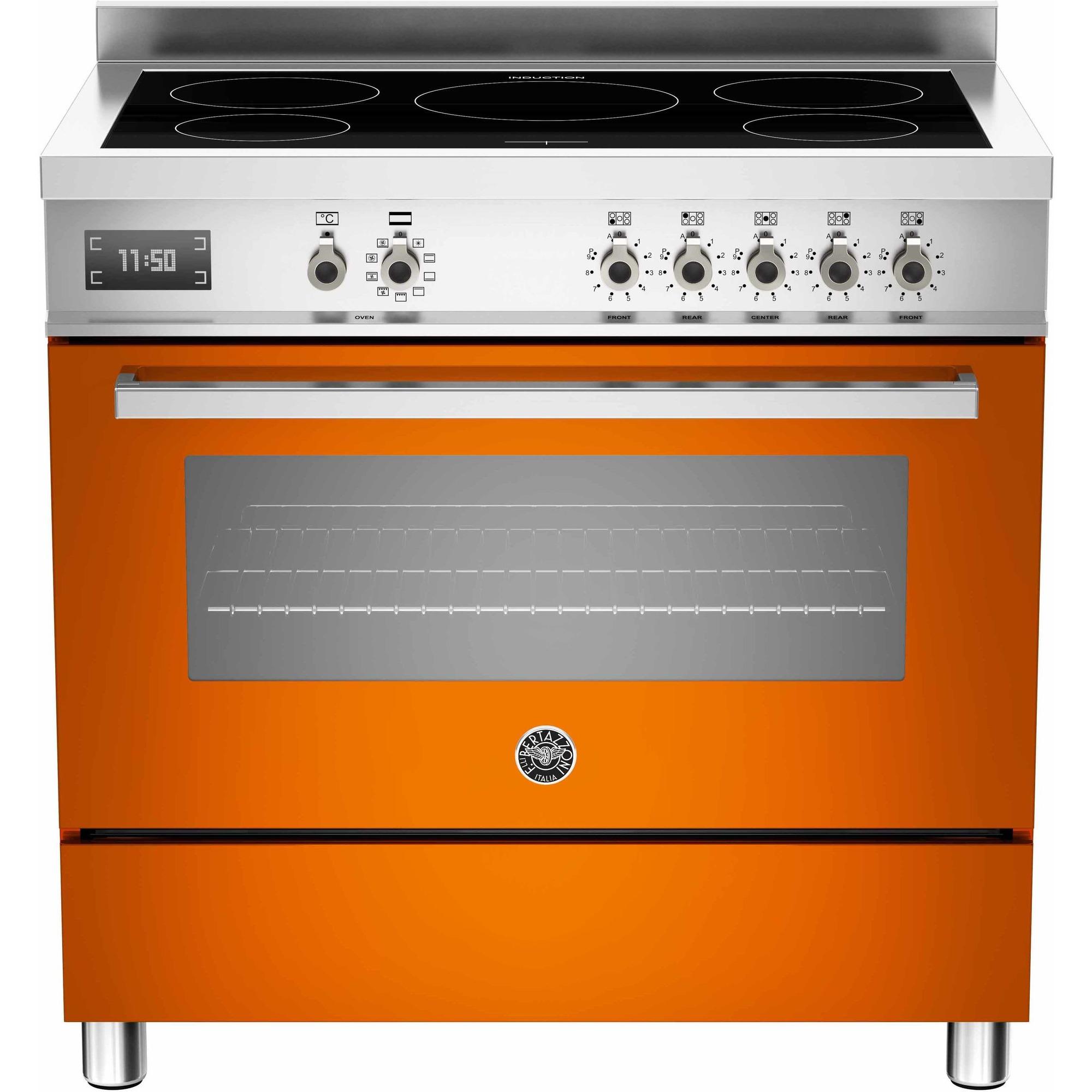 Bertazzoni PRO905 Induktionsspis 90 cm 1 ugn 5 zoner Orange