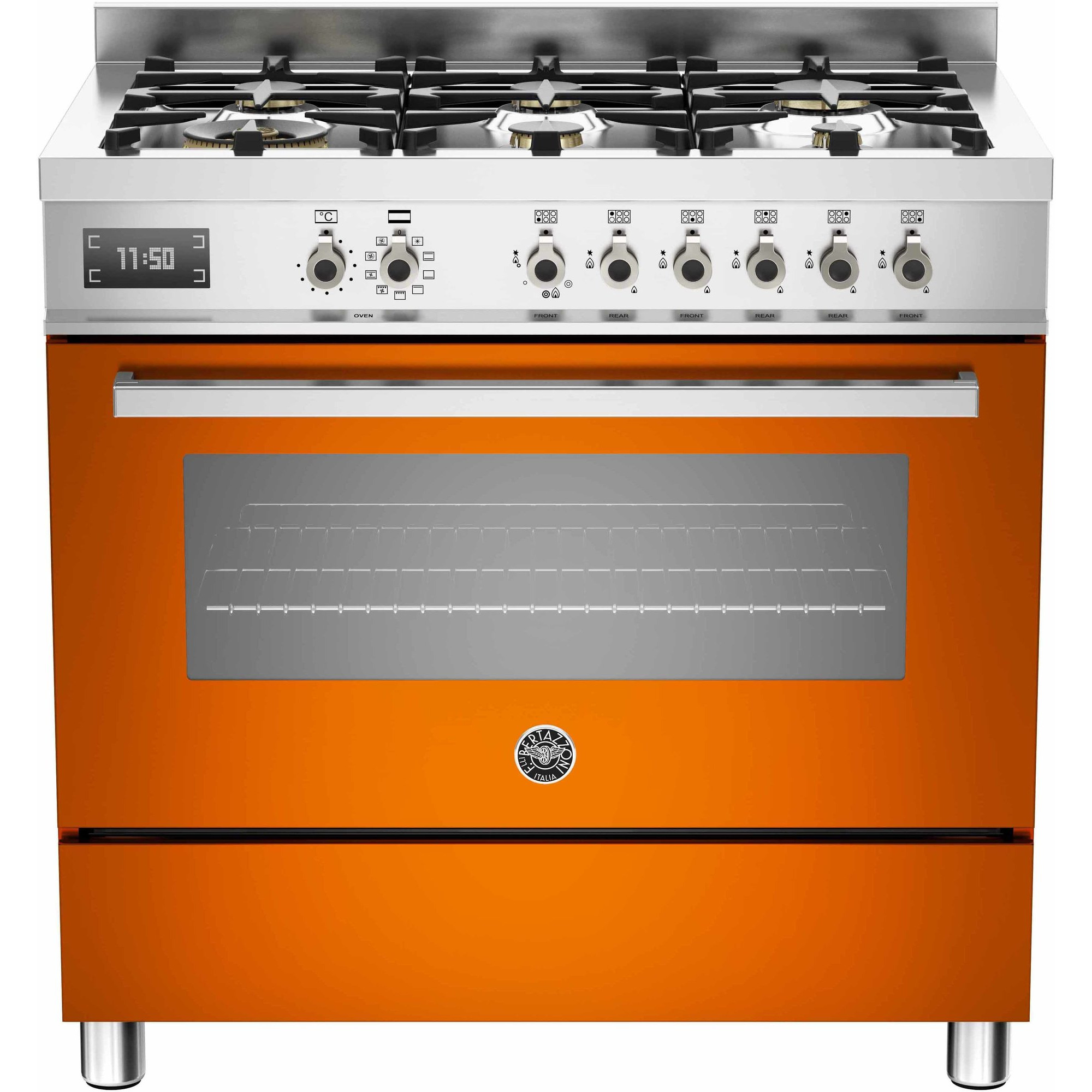 Bertazzoni PRO906 Gasspis 90 cm 1 ugn 6 brännare Orange