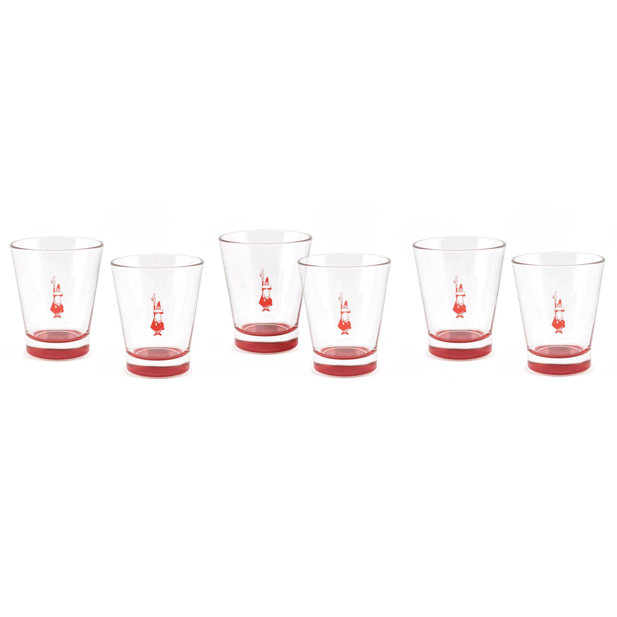 Bialetti Espressoglas Röd 6-pack