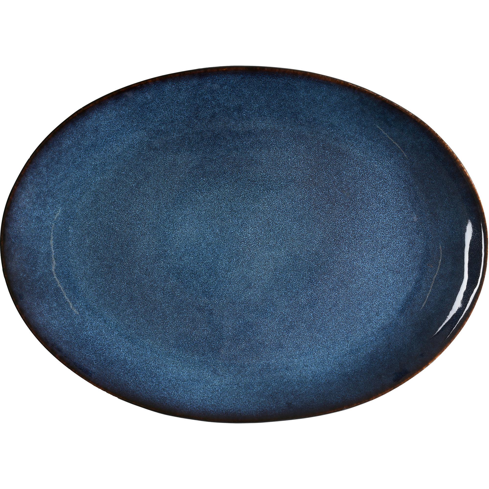 Bitz Ovalt Fat 45x34cm Svart/Mörkblå