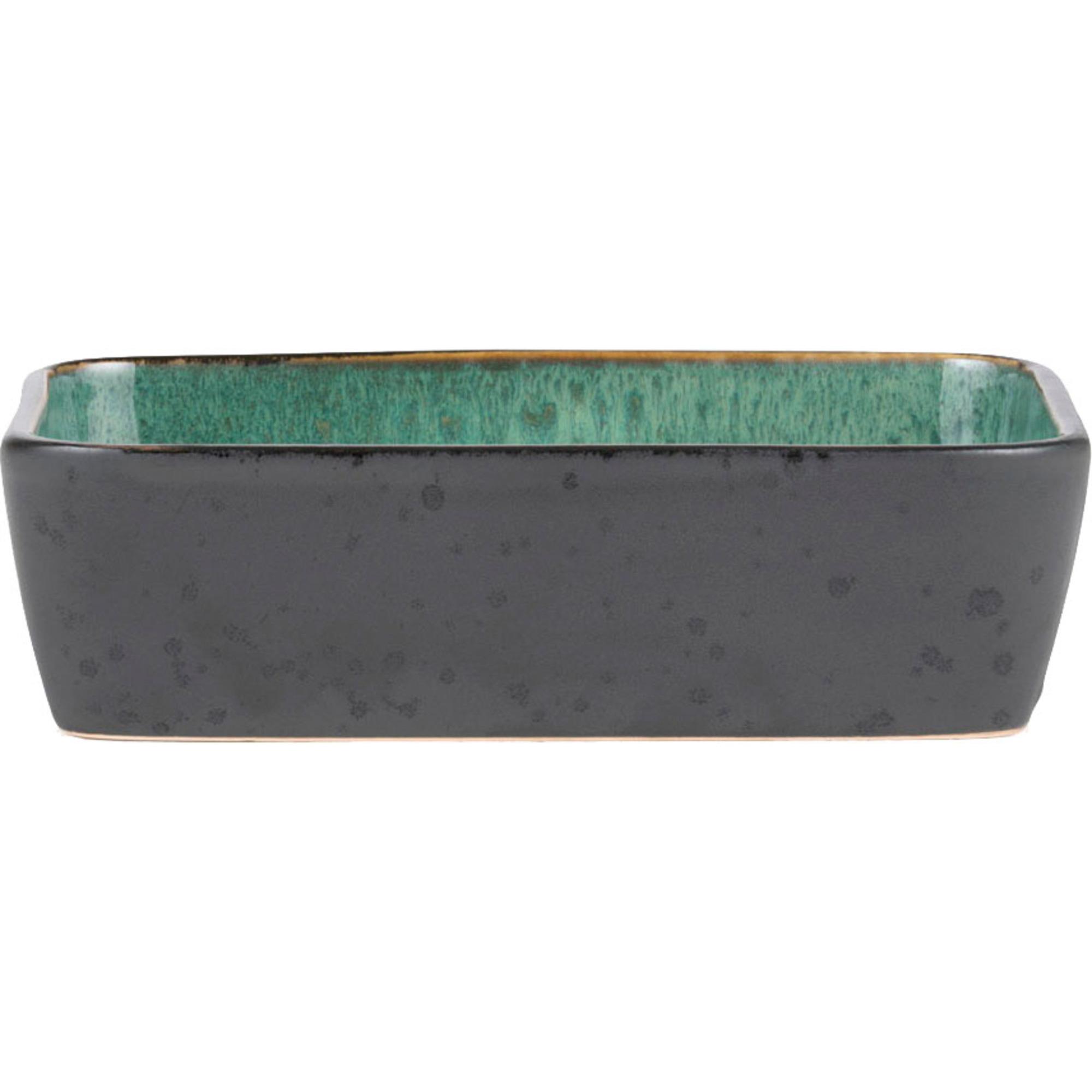 Bitz Fat rekt. 30x17cm svart/grön