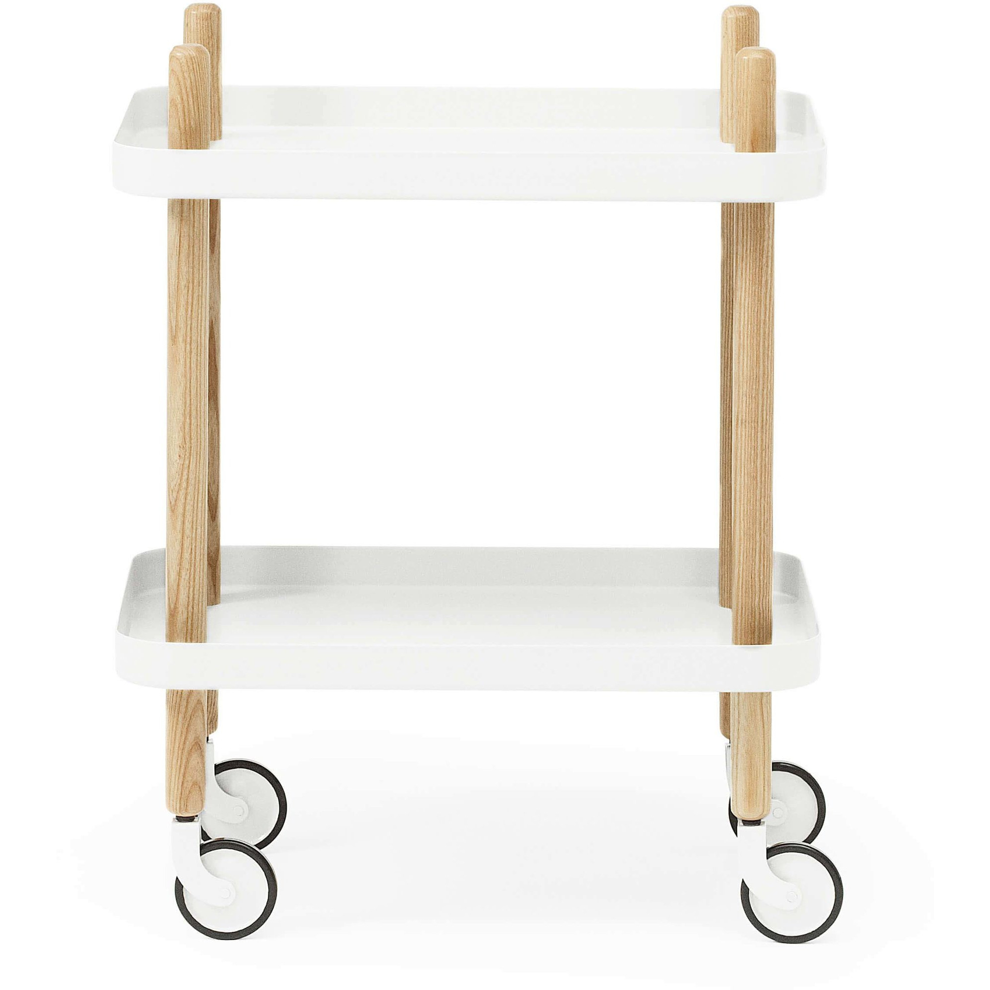 Normann Copenhagen Block Table Rullbord Vit