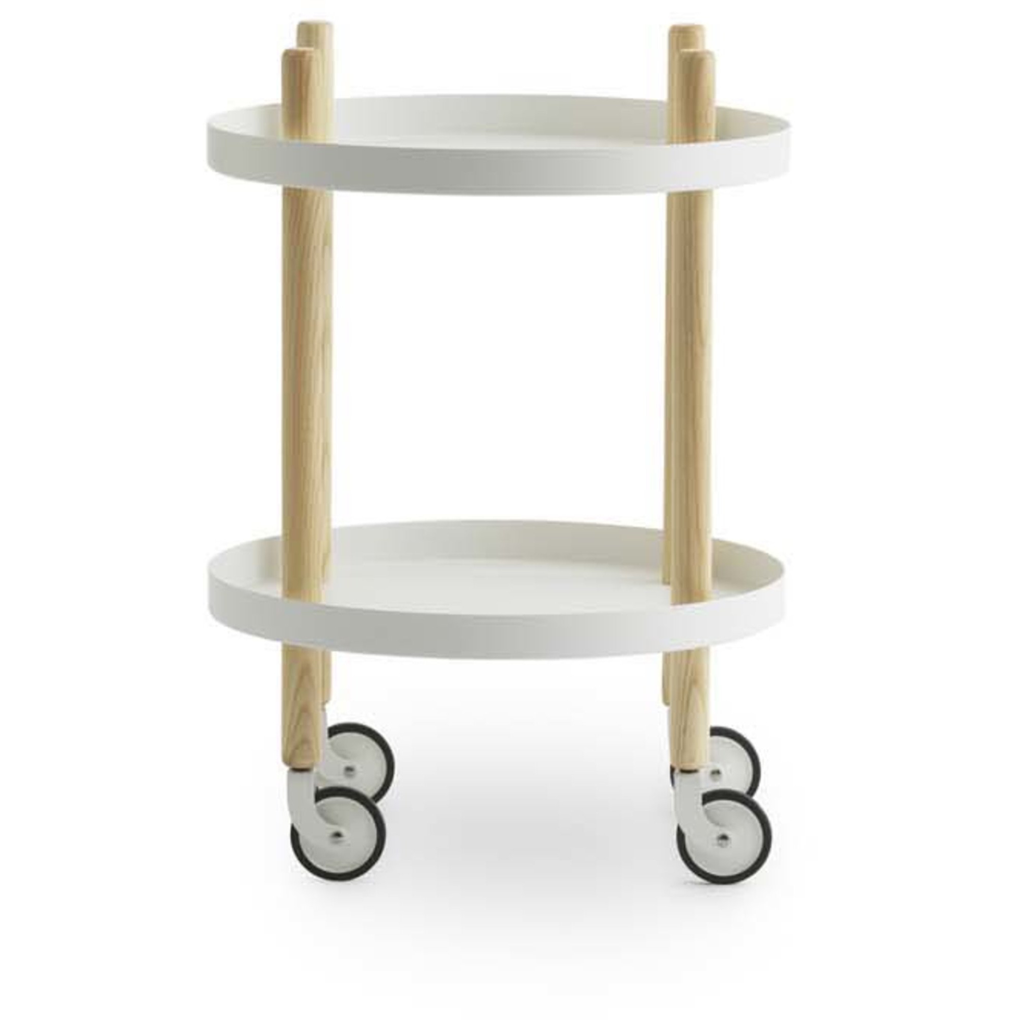 Normann Copenhagen Block Table Rullbord 45 cm Vit