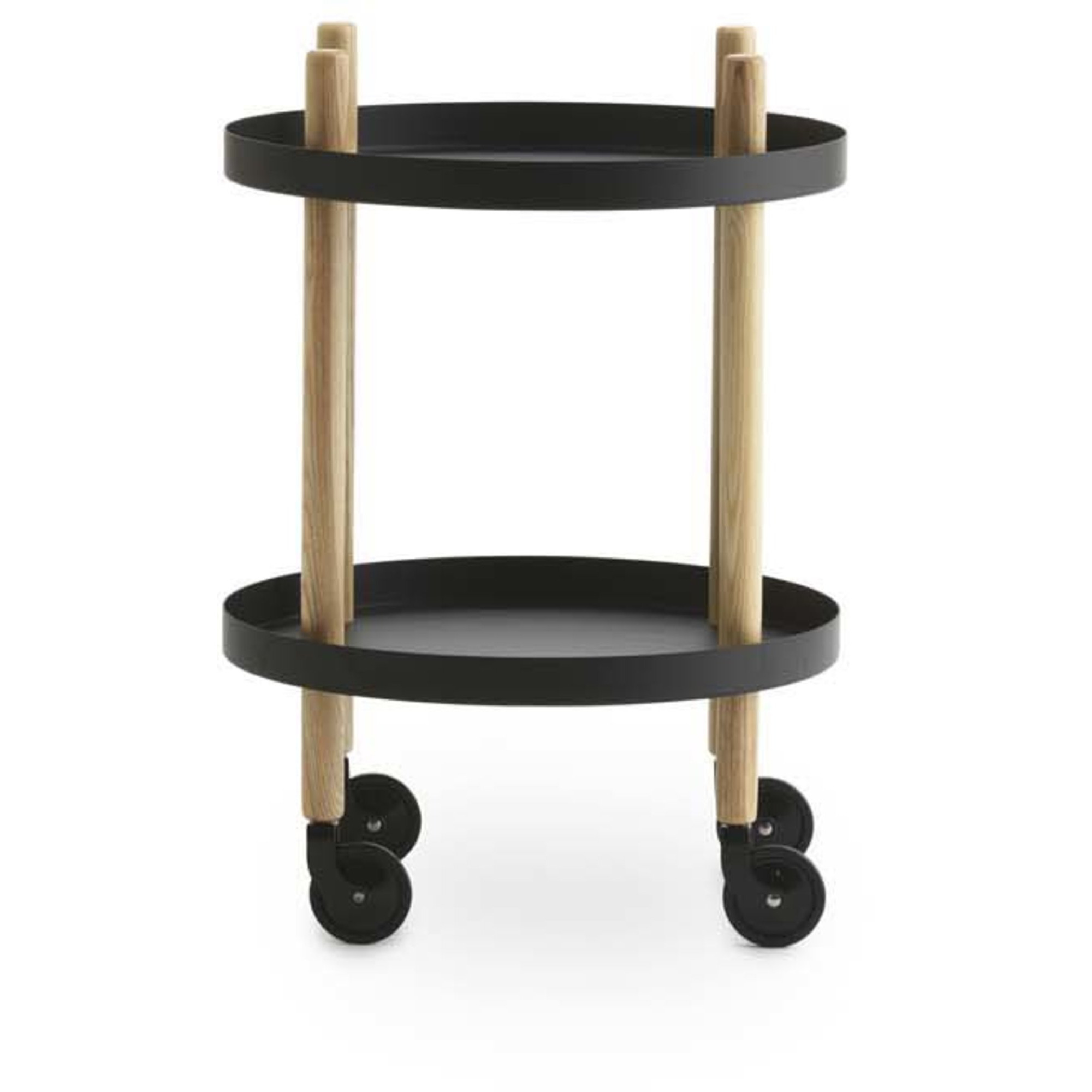 Normann Copenhagen Block Table Rullbord 45 cm Svart