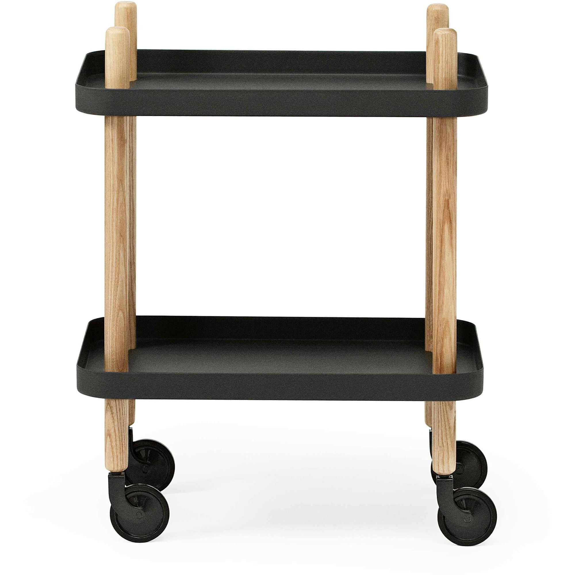 Normann Copenhagen Block Table Rullbord Svart