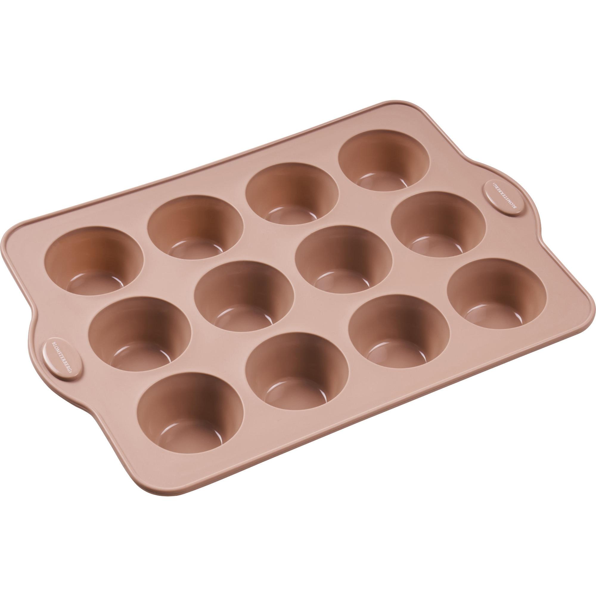 Blomsterbergs Muffinsform 12 st Rosa Silikon