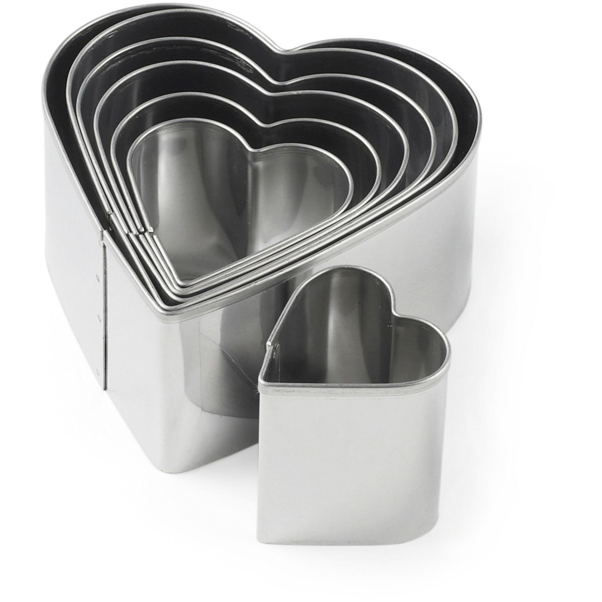 Blomsterbergs Utstickarset hjärtform 7 delar