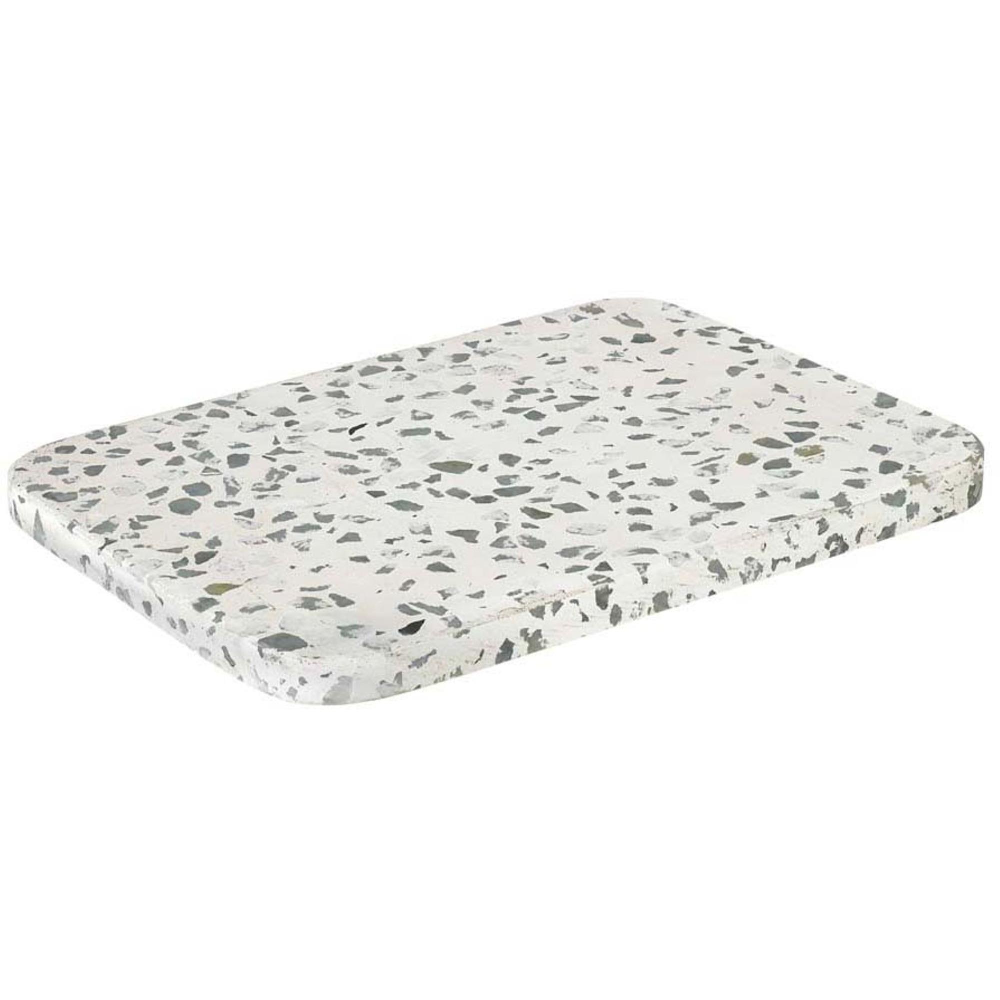 Blomus Omeo Bricka Vit Terrazzo 20 X 15 cm