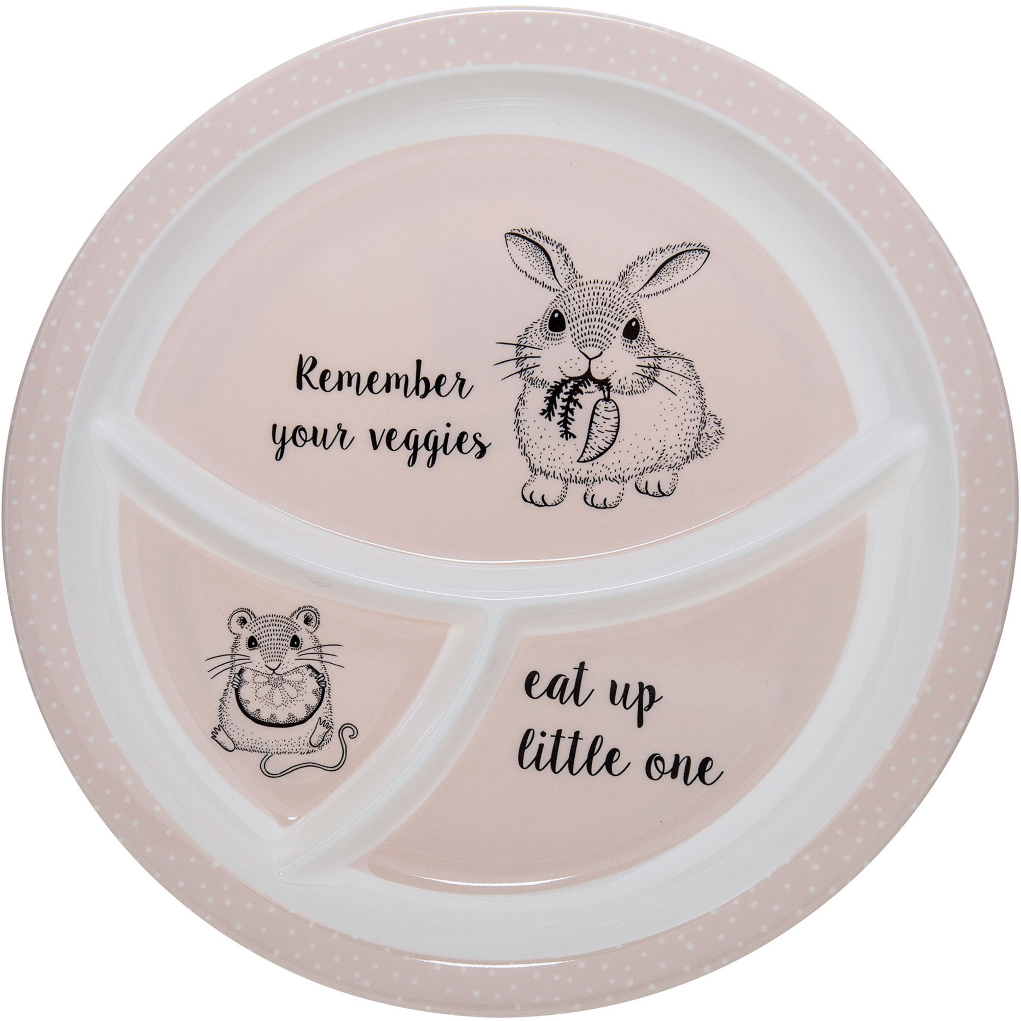 Bloomingville Nelly Plate Melamine White / Powde