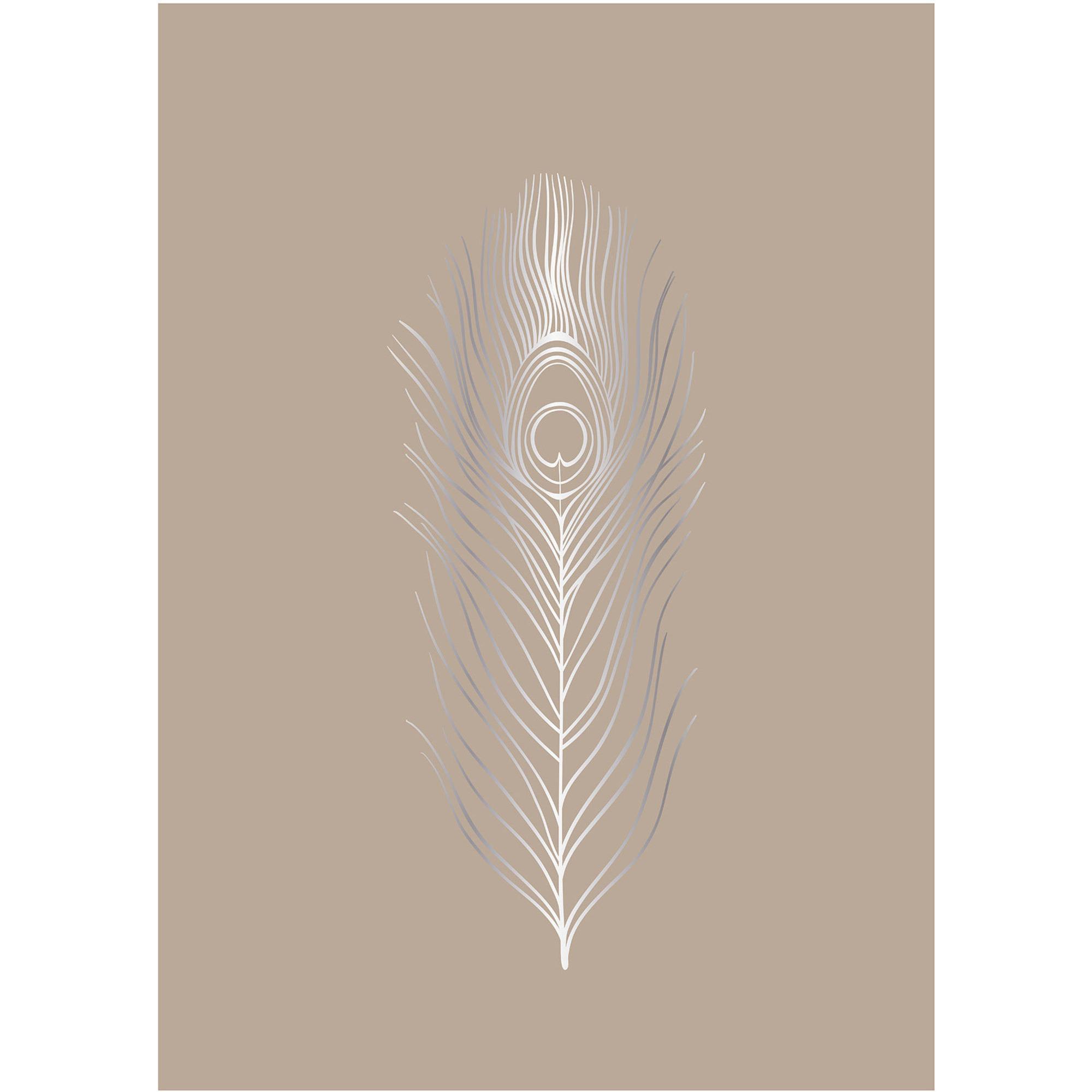 Bloomingville Poster med fjädrar