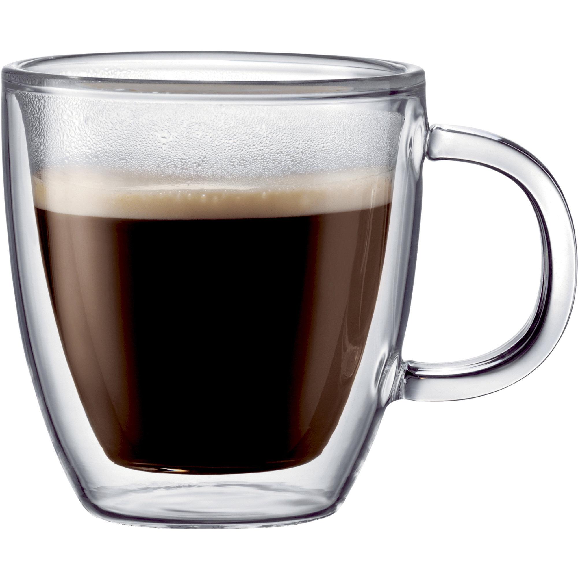 Bodum BISTRO dubbelväggat espressoglas m. handtag 2 st.