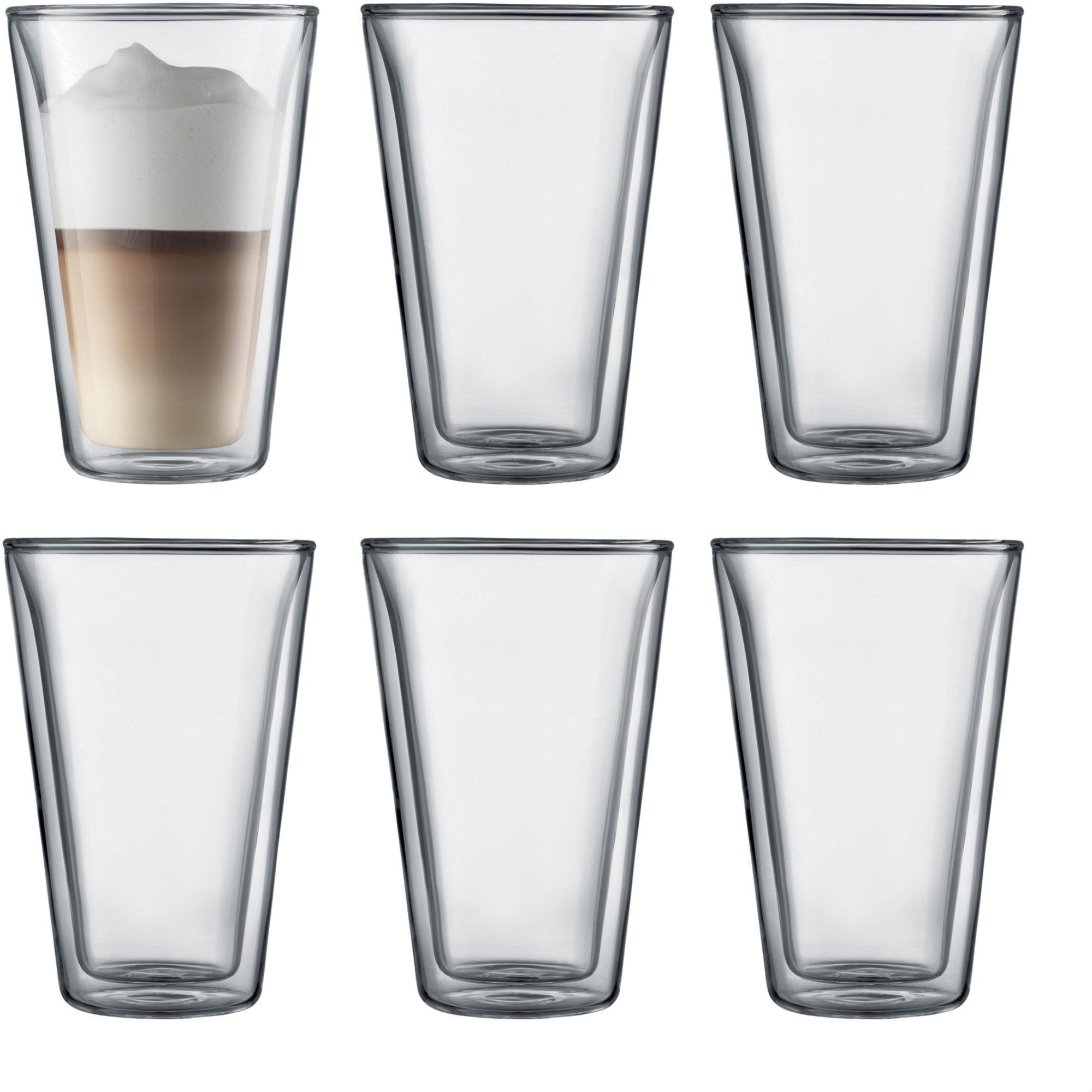Bodum Canteen Dubbelväggigt Glas Large 6 pack
