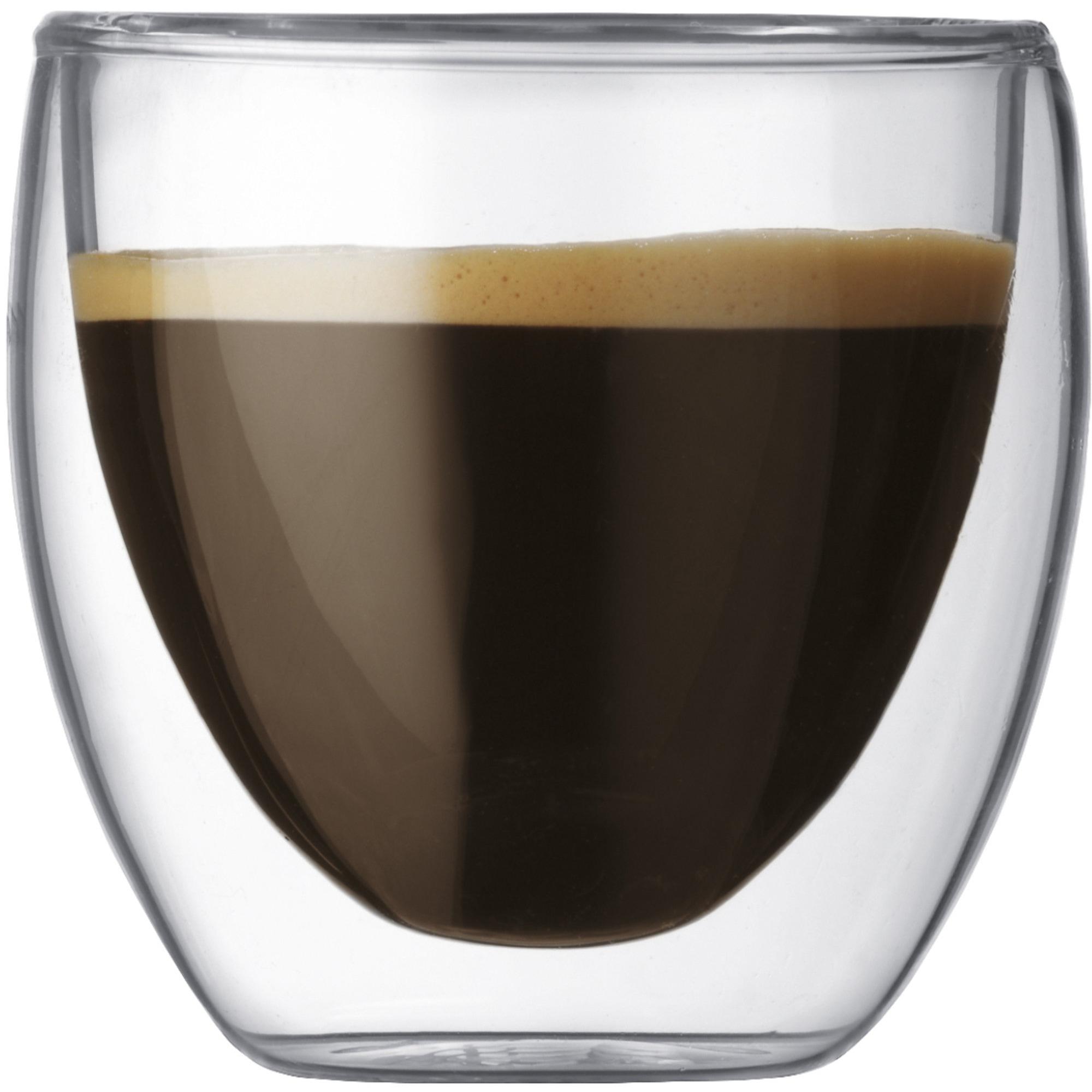Bodum PAVINA Dubbelväggat espressoglas 008 l – 2 st.