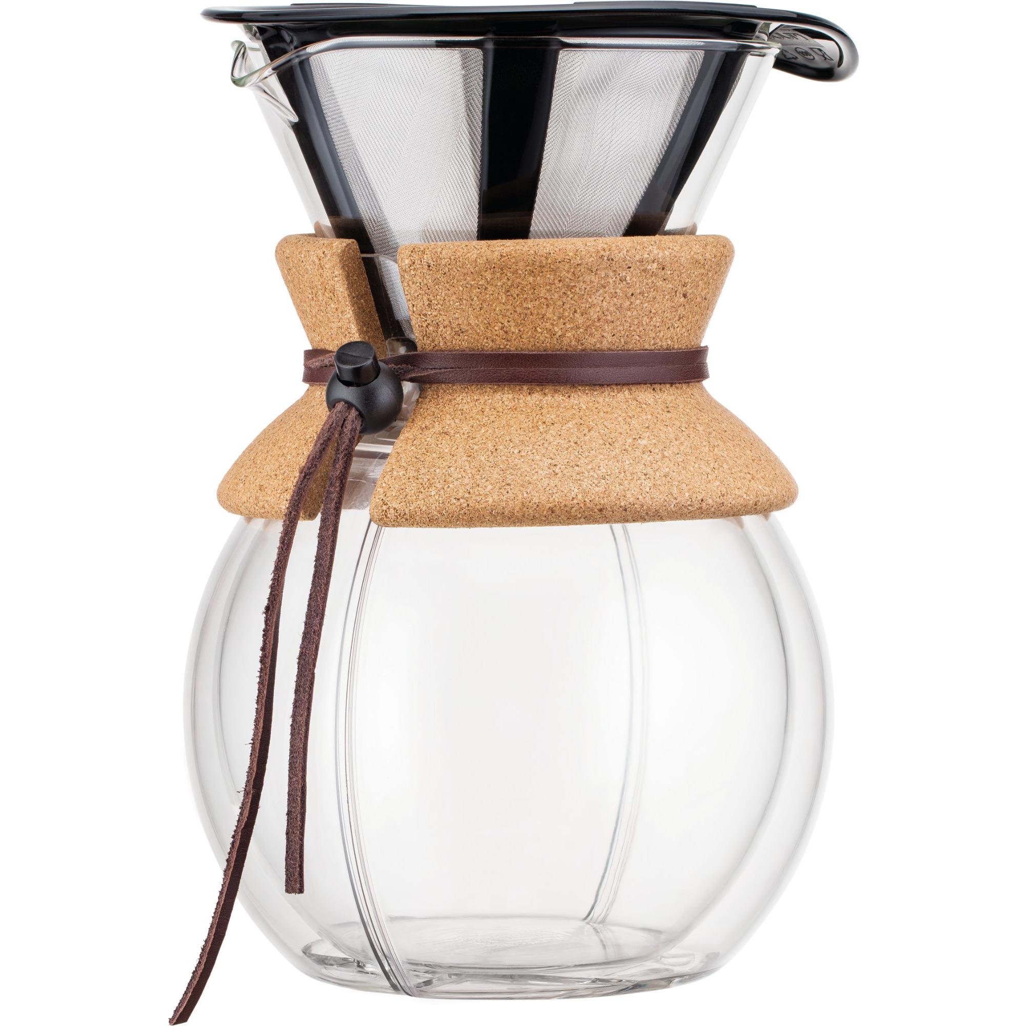 Bodum Pour Over Dubbelvägg Kork med Filter 1 l