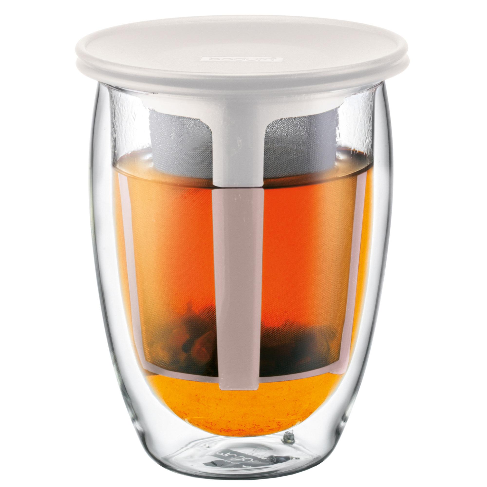 Bodum Tea for One teglas med filter 035 l Vit
