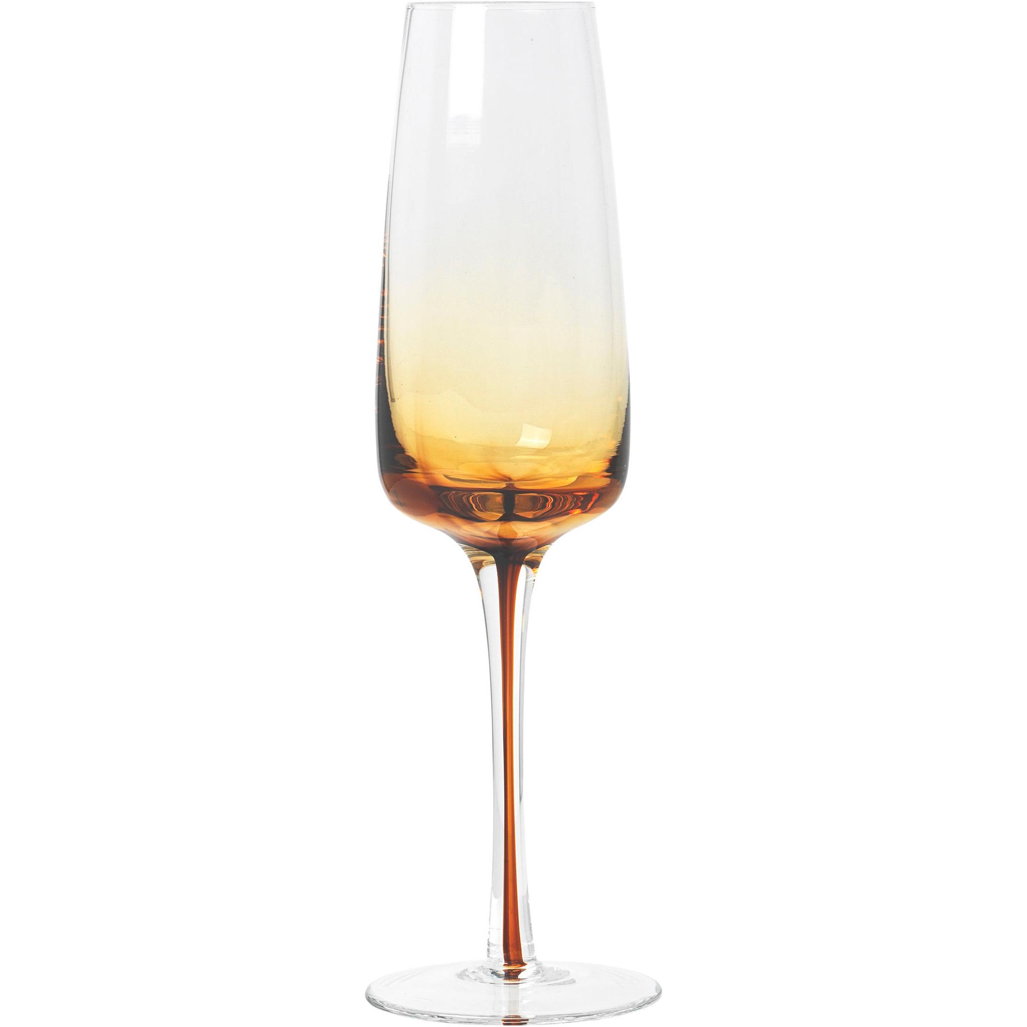 Broste Copenhagen 'Amber' Munblåst champagneglas