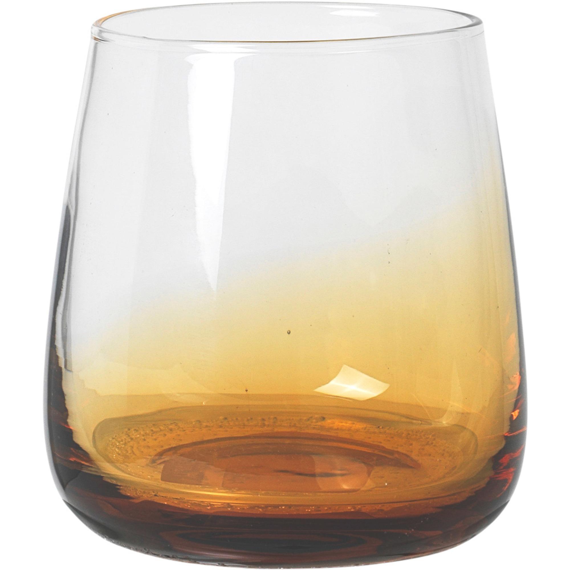 Broste Copenhagen 35 cl. Amber munblåst dricksglas