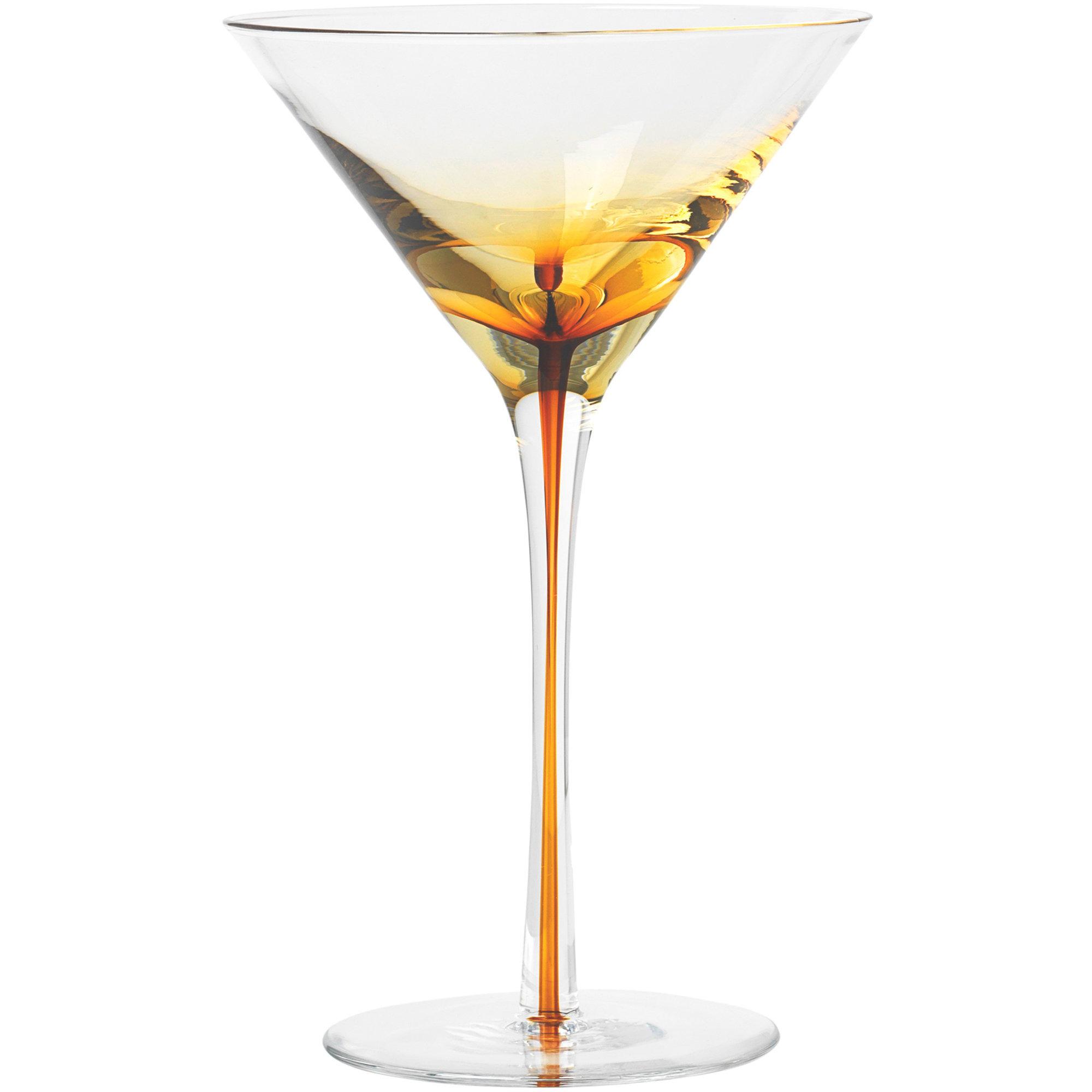 Broste Copenhagen 'Amber' Munblåst Martiniglas