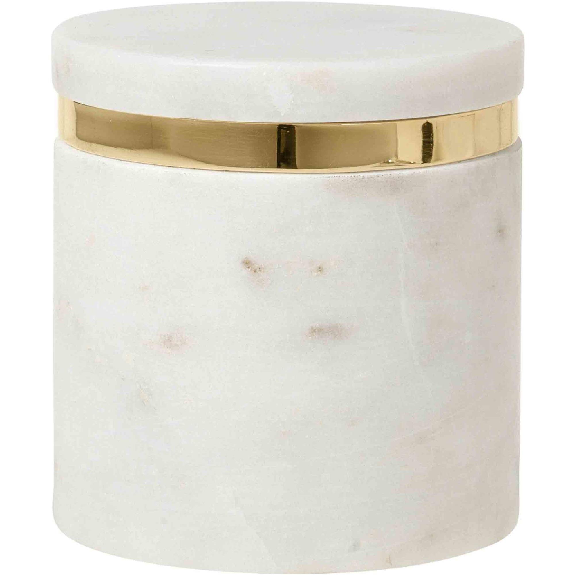 Broste Copenhagen Burk 'Ring' i farven 'Marmor' S