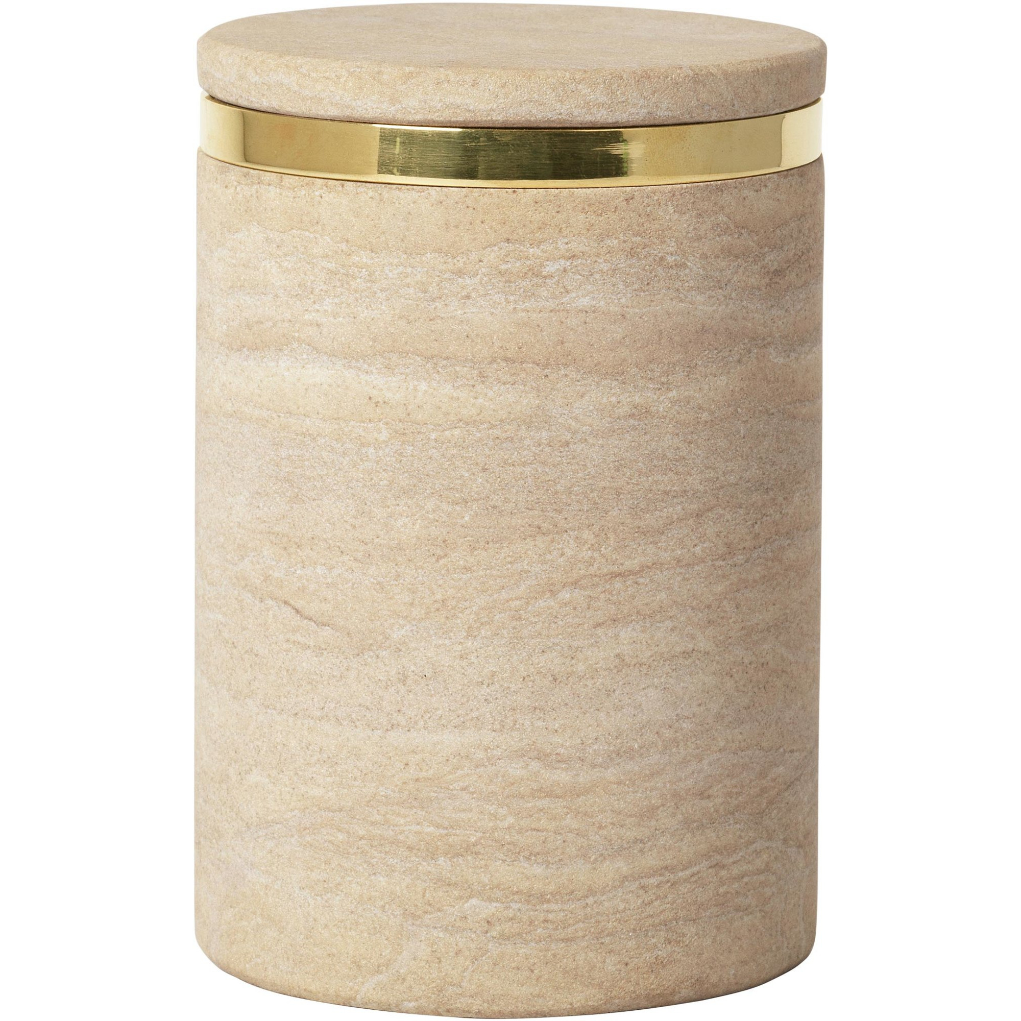Broste Copenhagen Burk 'Ring' i färgen 'Sand Stone' L