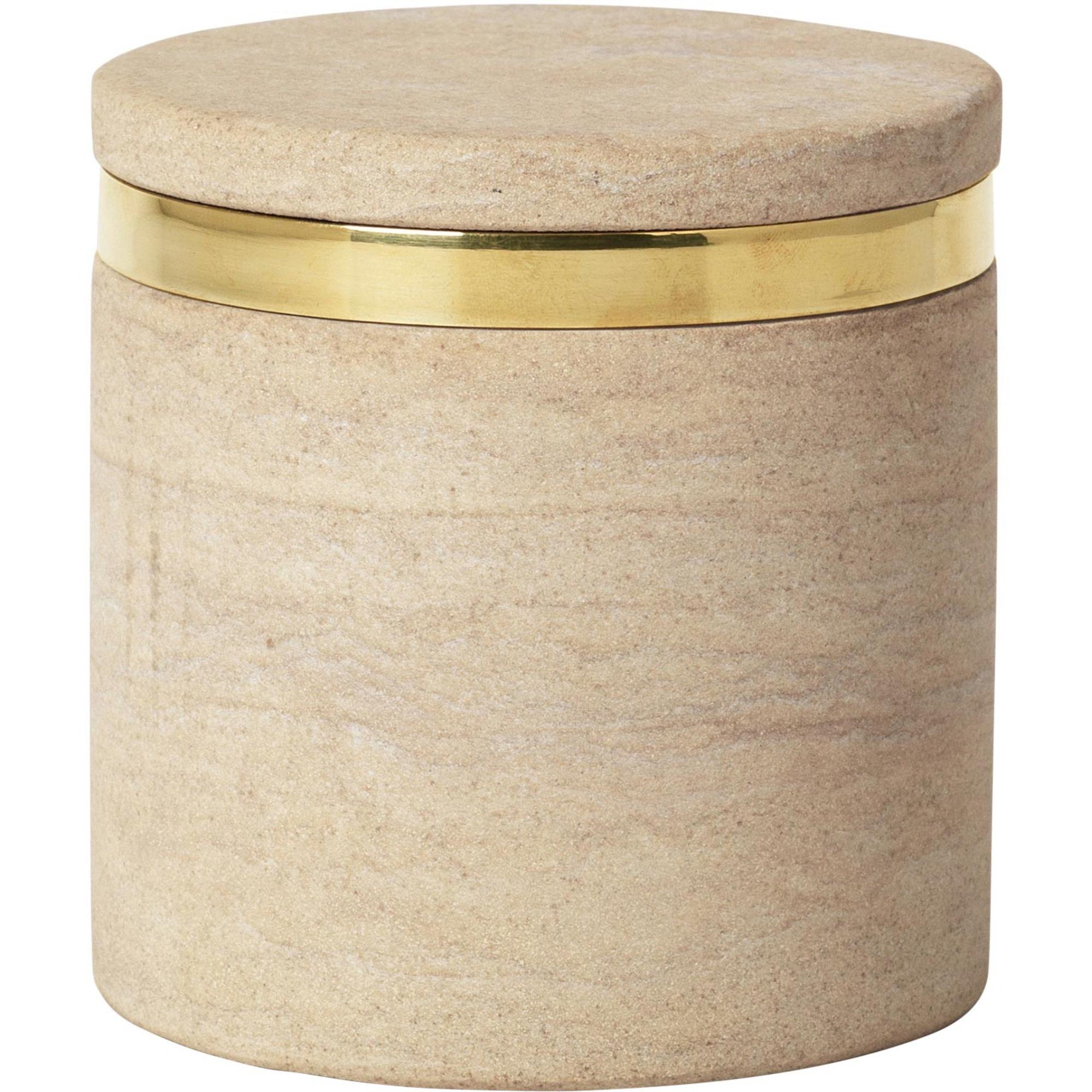 Broste Copenhagen Burk 'Ring' i färgen 'Sand Stone' S