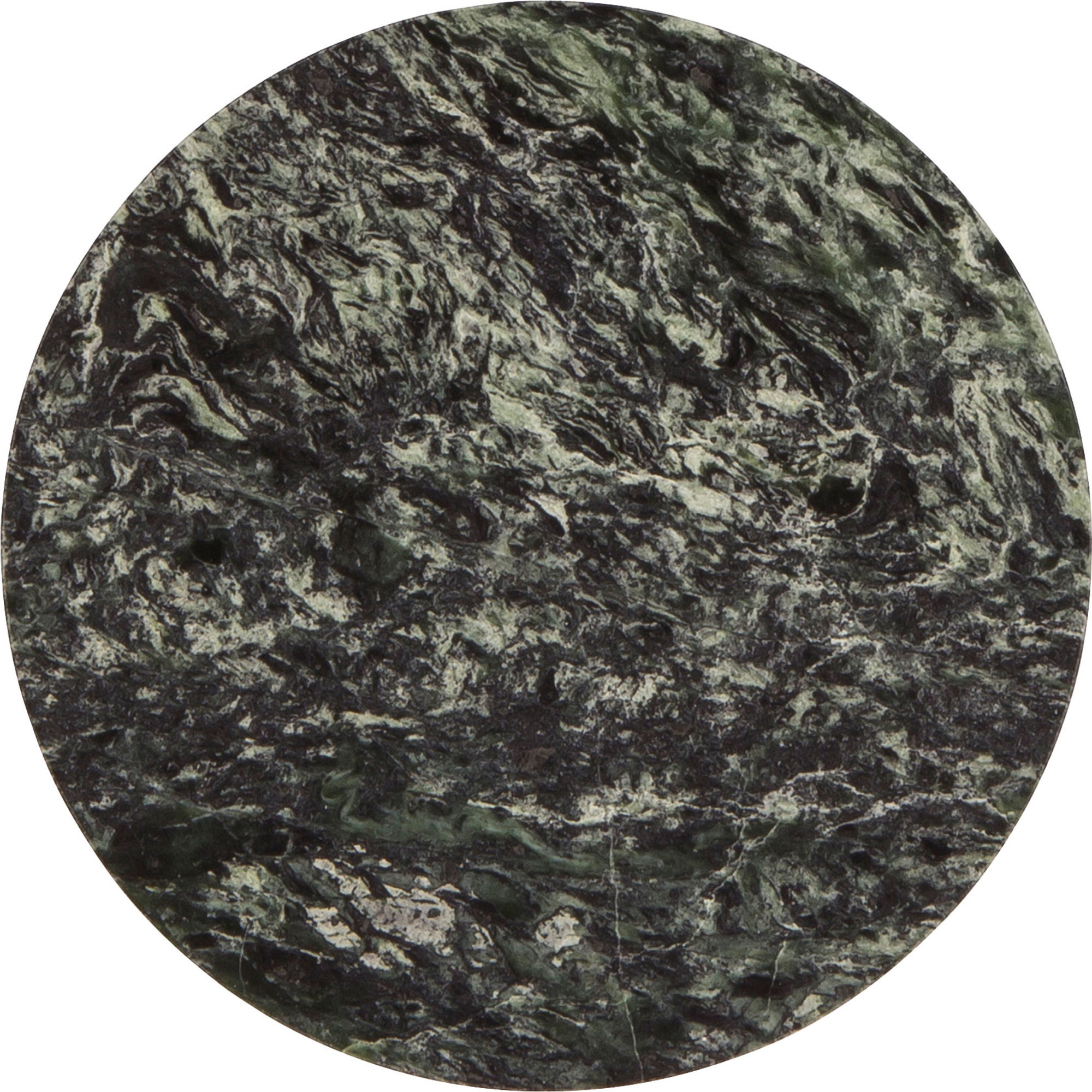 Broste Copenhagen Runt fat i grön marmor Medium