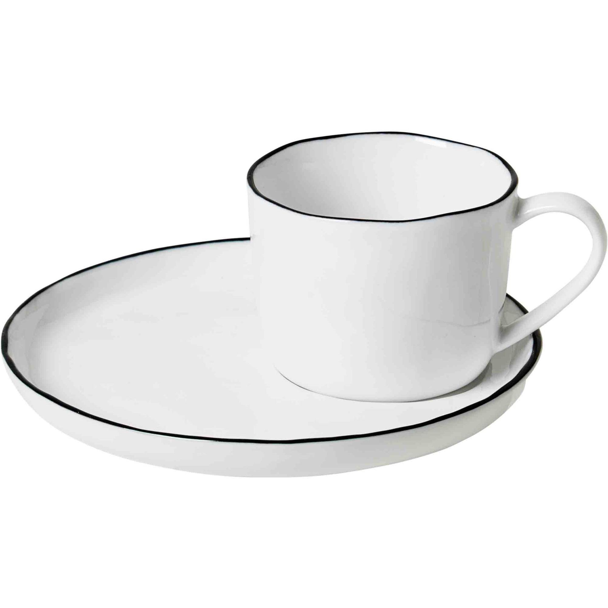 Broste Copenhagen 'Salt' handgjord kopp med fat S