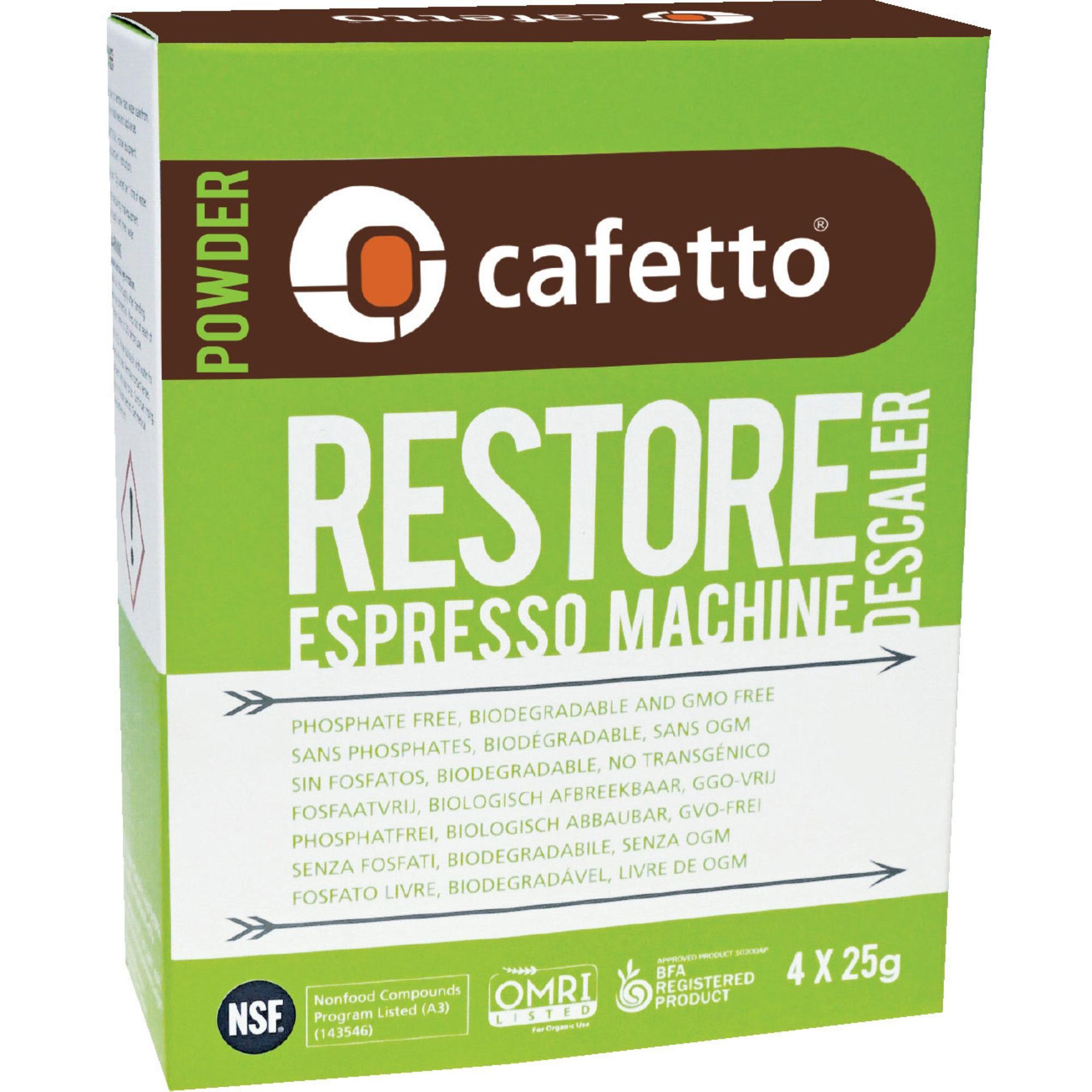 Cafetto Avkalkningsmedel 4×25 g