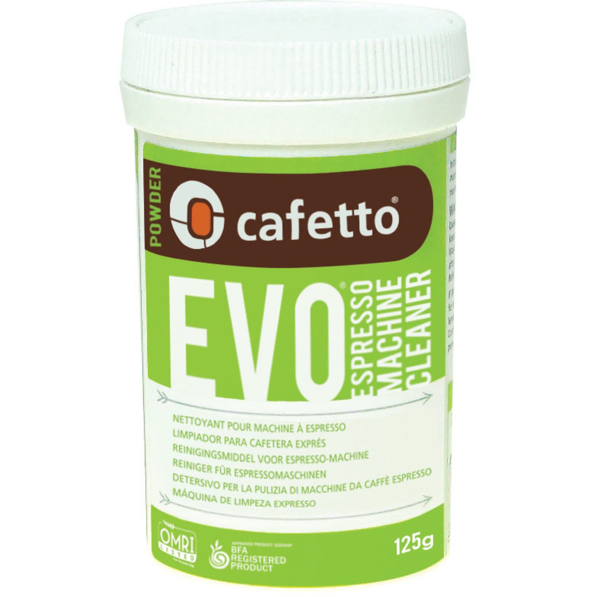 Cafetto EVO Rengöringspulver 125 g.