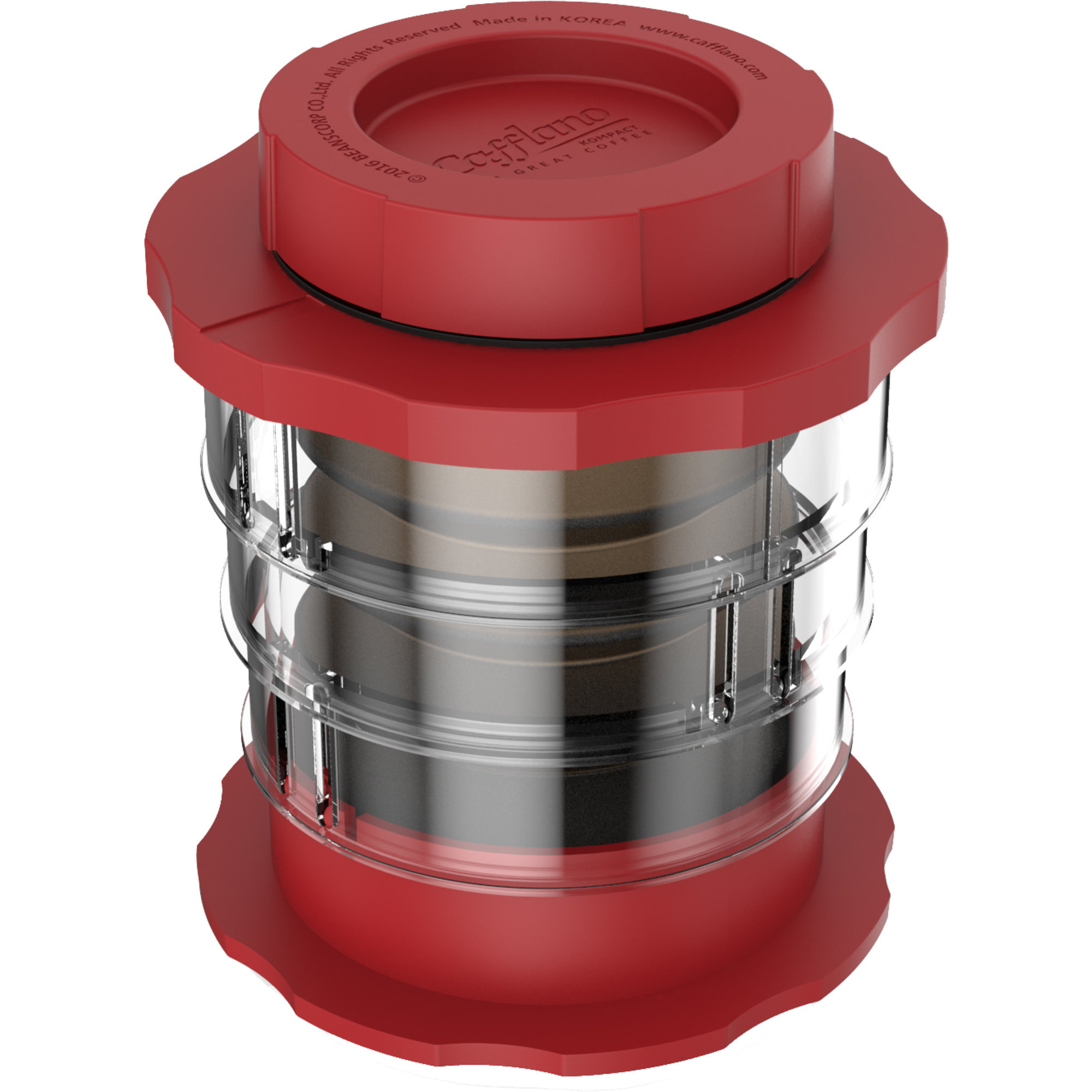 Cafflano Kompakt Kaffebryggare Röd