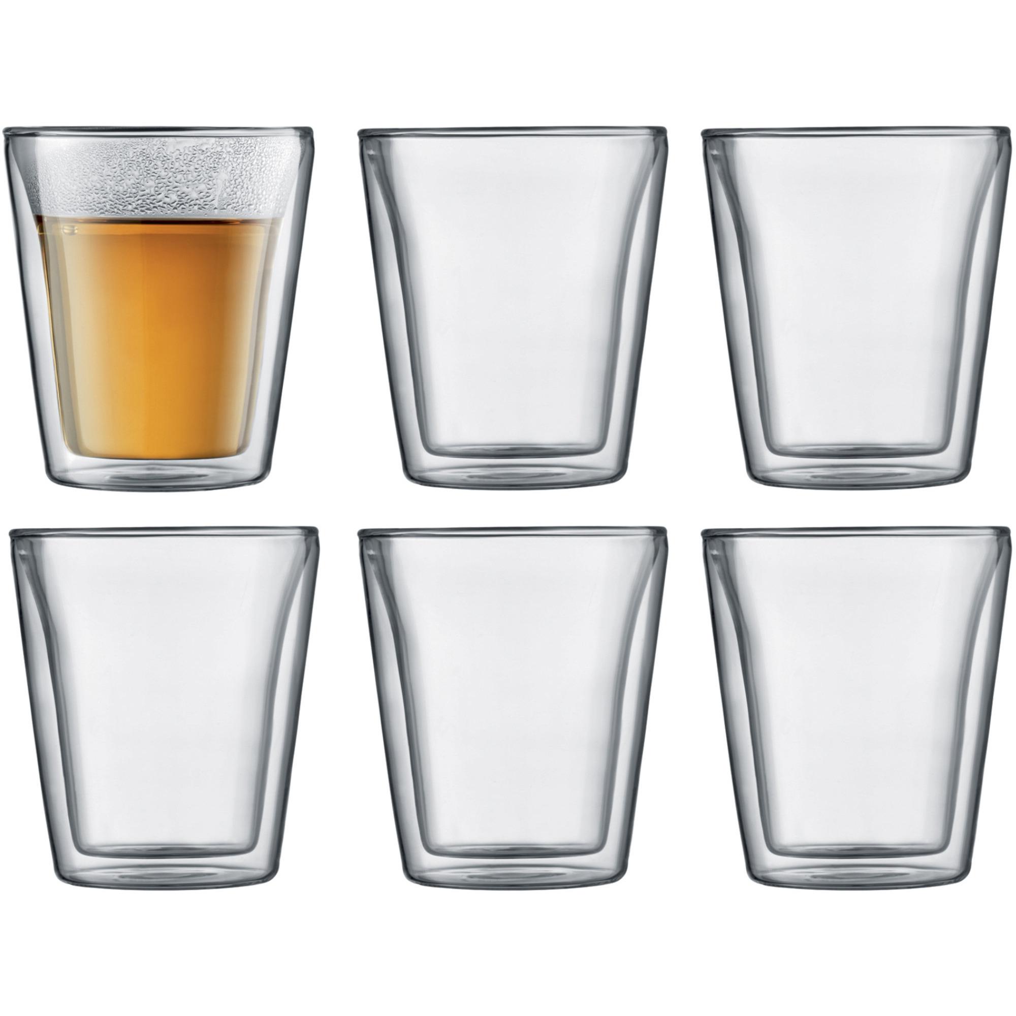 Bodum Canteen Dubbelväggigt Glas Medium 6 pack