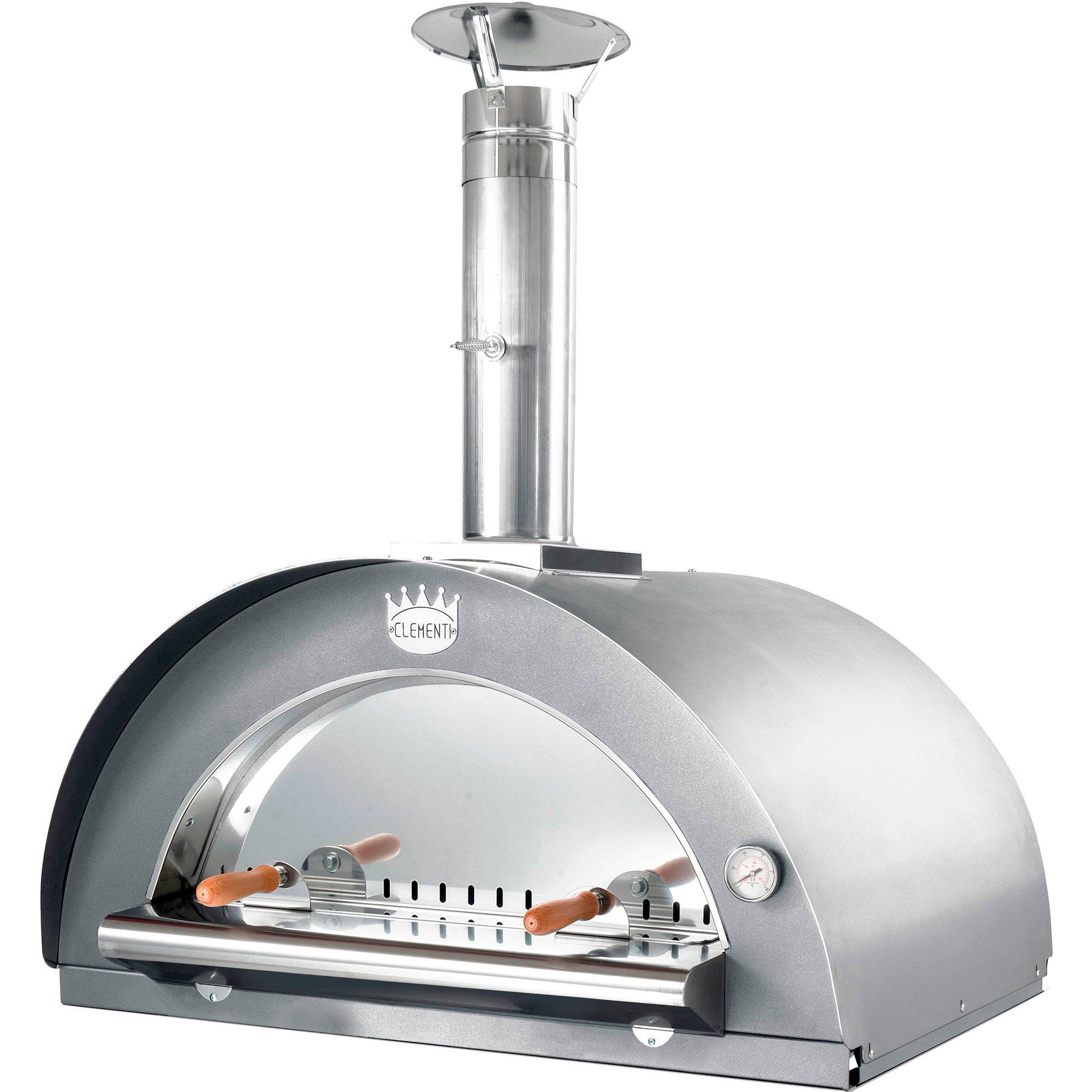 Clementi Family Vedeldad Pizzaugn 60×60 cm. Rostfritt stål