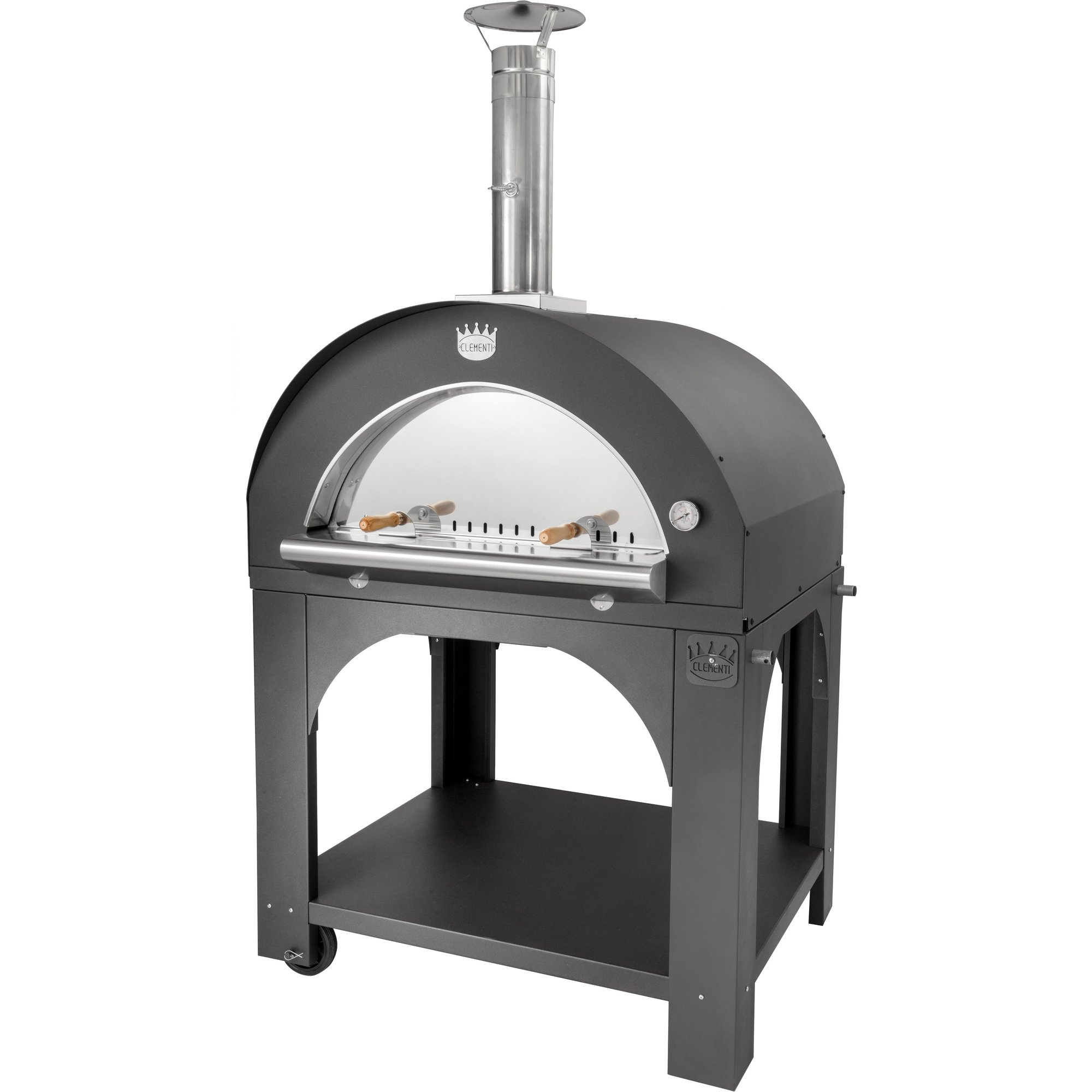 Clementi Pulcinella Vedeldad Pizzaugn 100×80 cm. Antracit