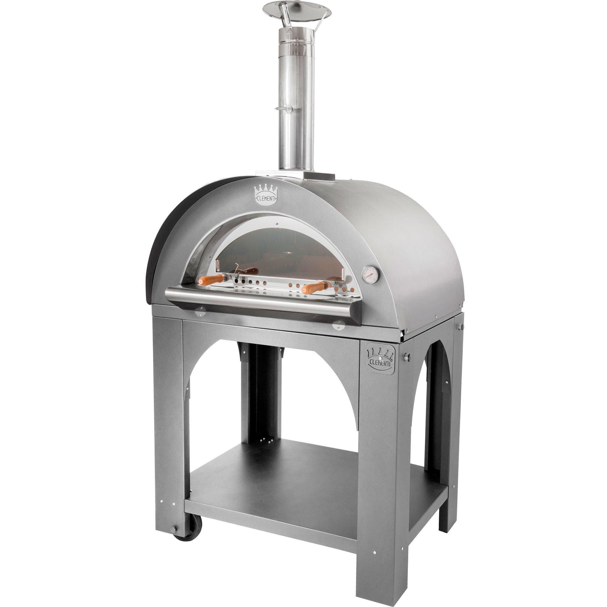 Clementi Pulcinella Vedeldad Pizzaugn 60×60 cm. Rostfritt stål