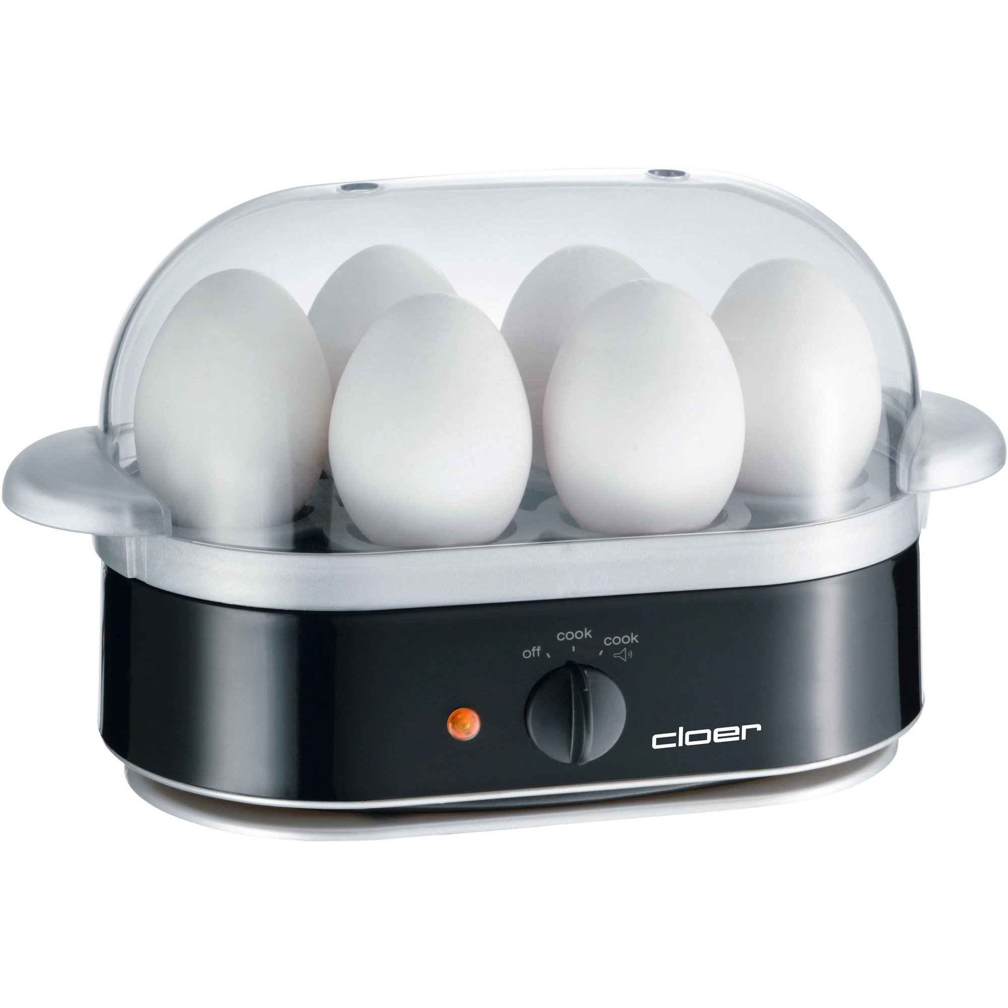 Cloer Äggkokare 6 ägg – Svart