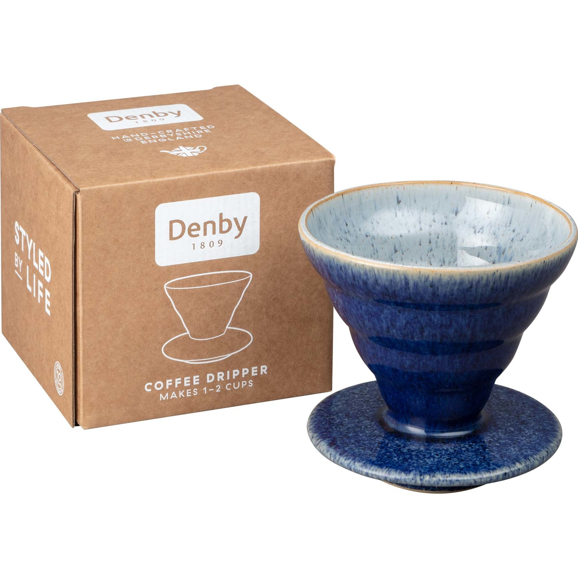 Denby Studio Blue Brew Kaffebryggare