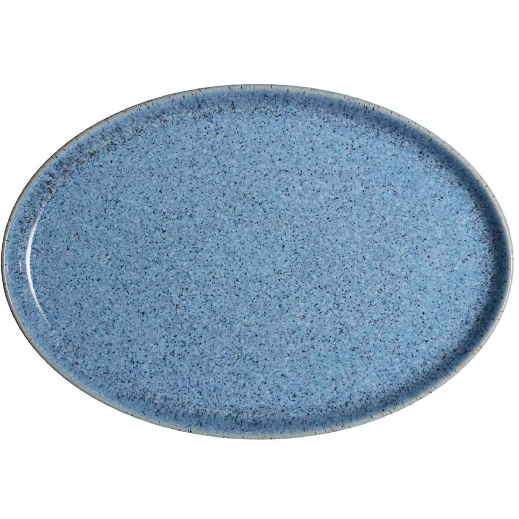 Denby Studio Blue Flint Medium Oval Tallrik 27 cm