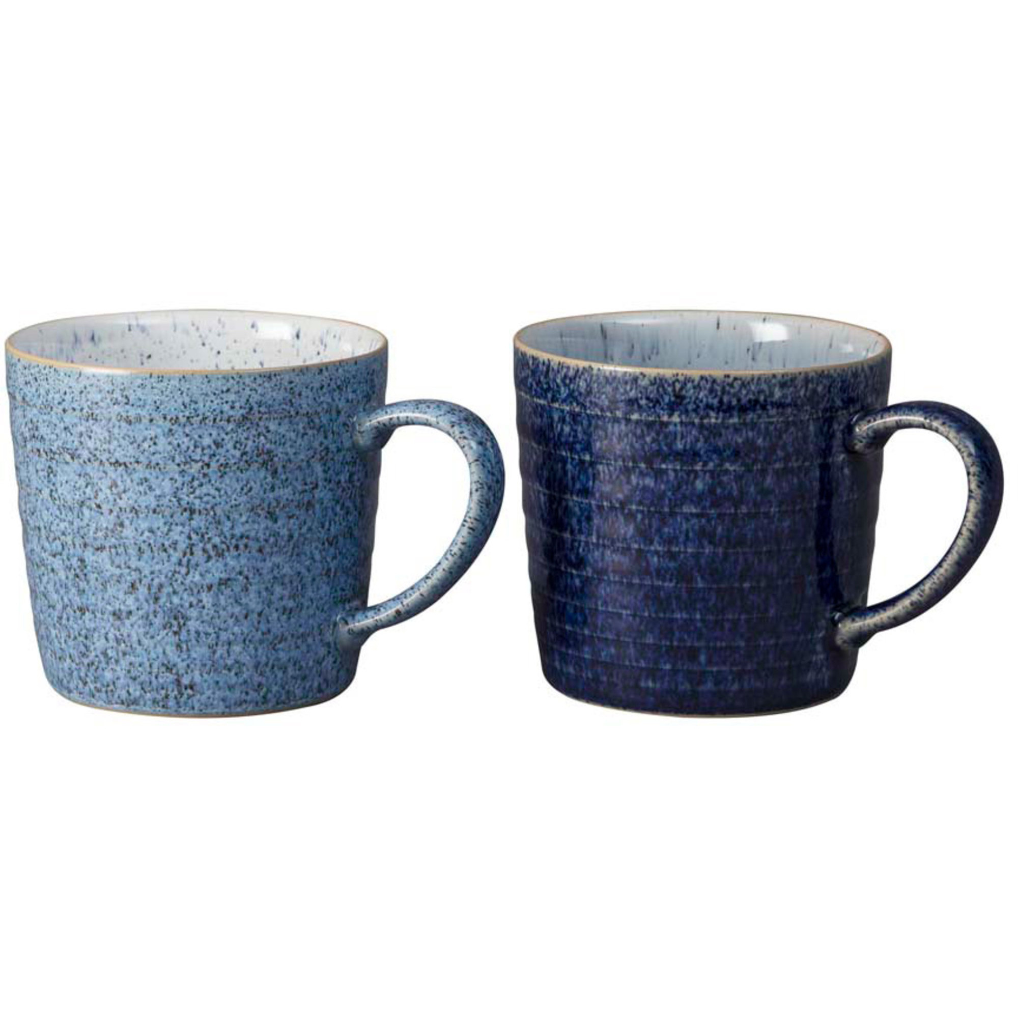 Denby Studio Blue Ridged Mugg 40 cl 2-Pack