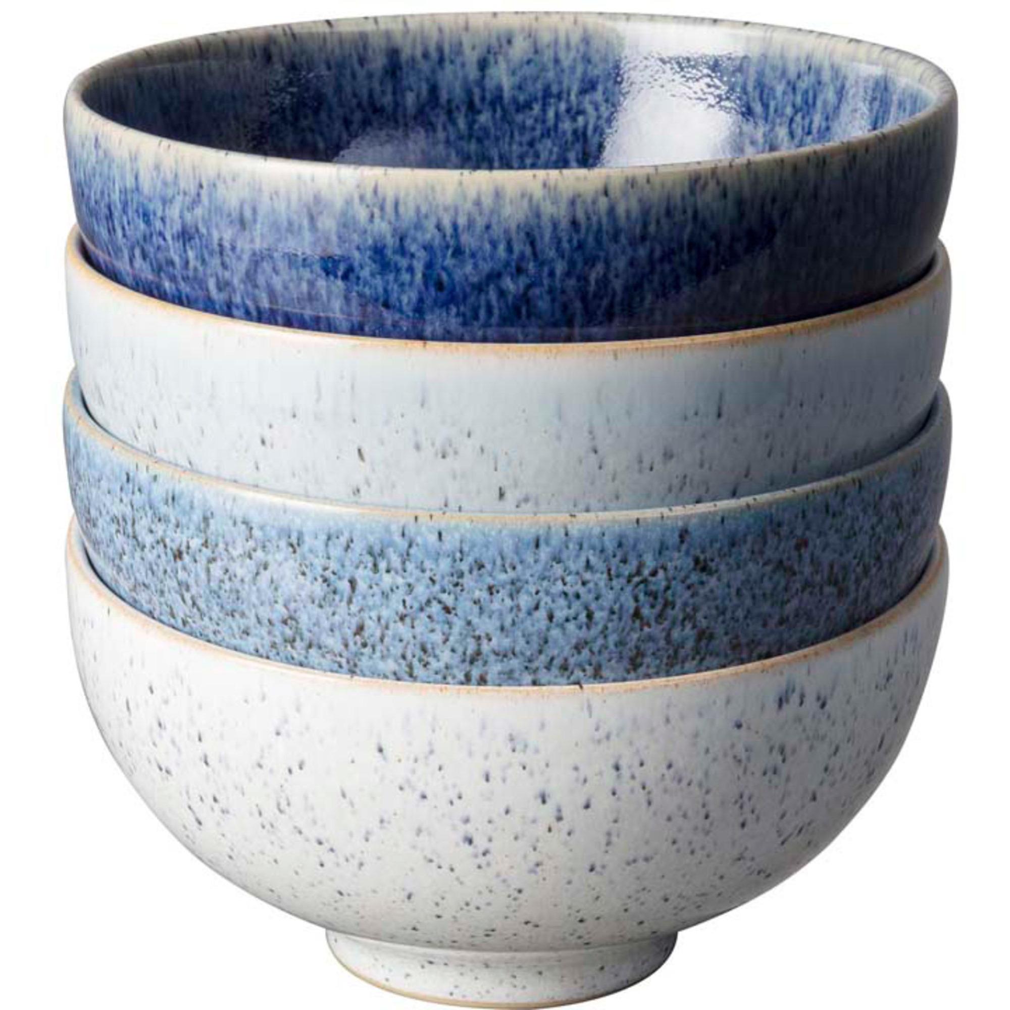 Denby Studio Blue Skål Small 13 cm 4- Pack Rice Bowls