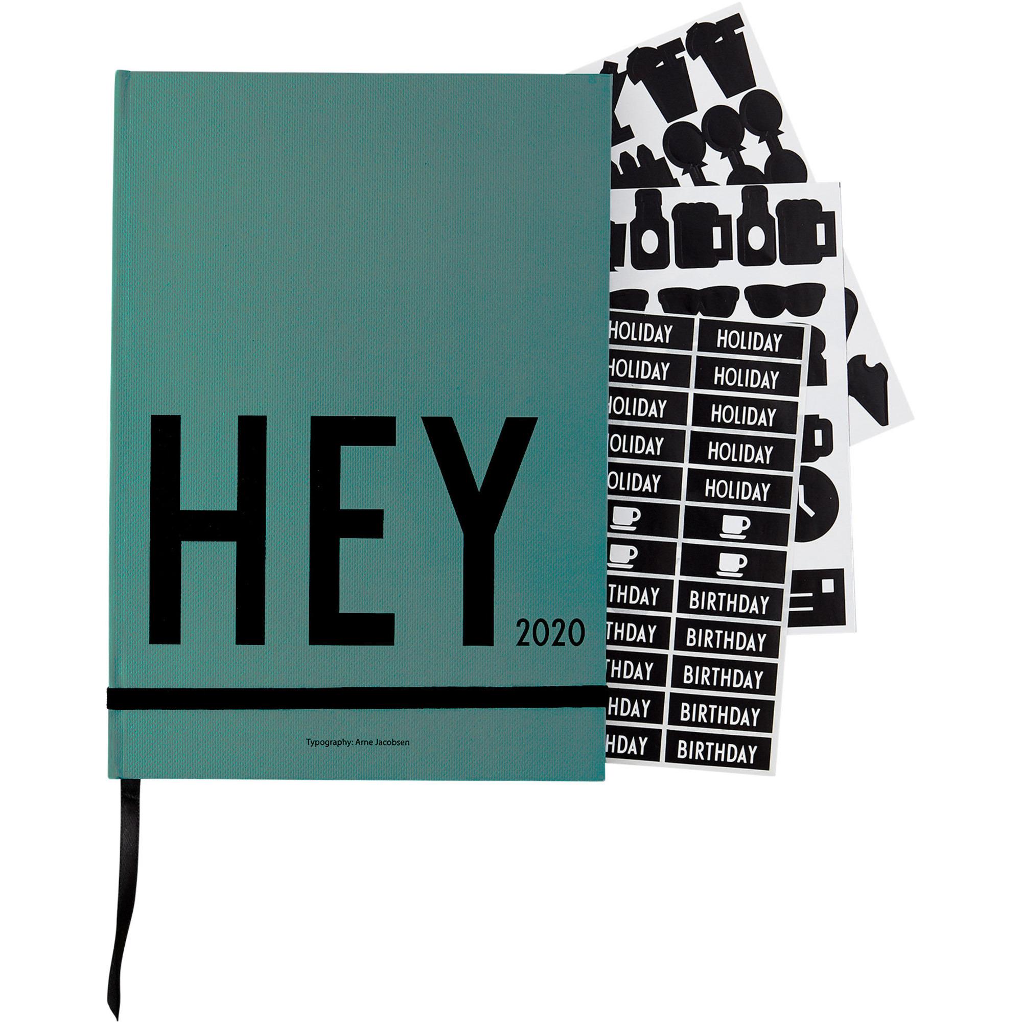 Design Letters Calendar 2020 Grön