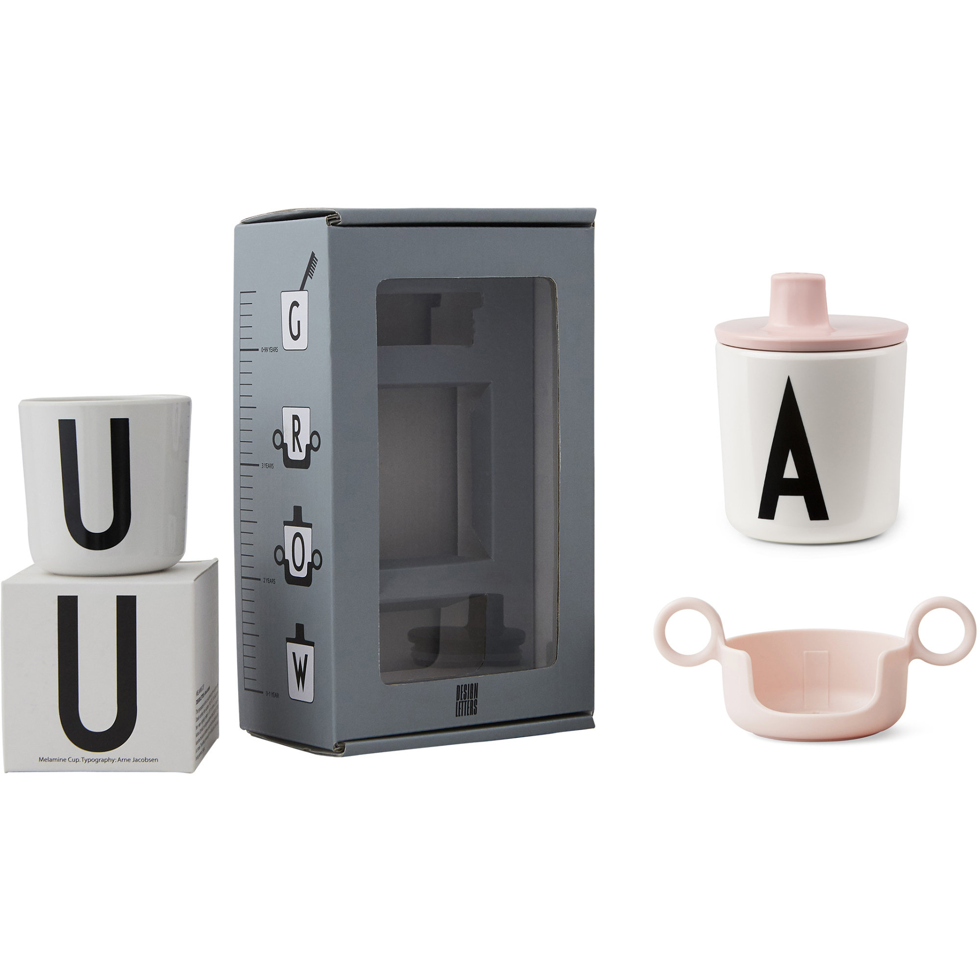 Design Letters Barnmugg 3-del Rosa