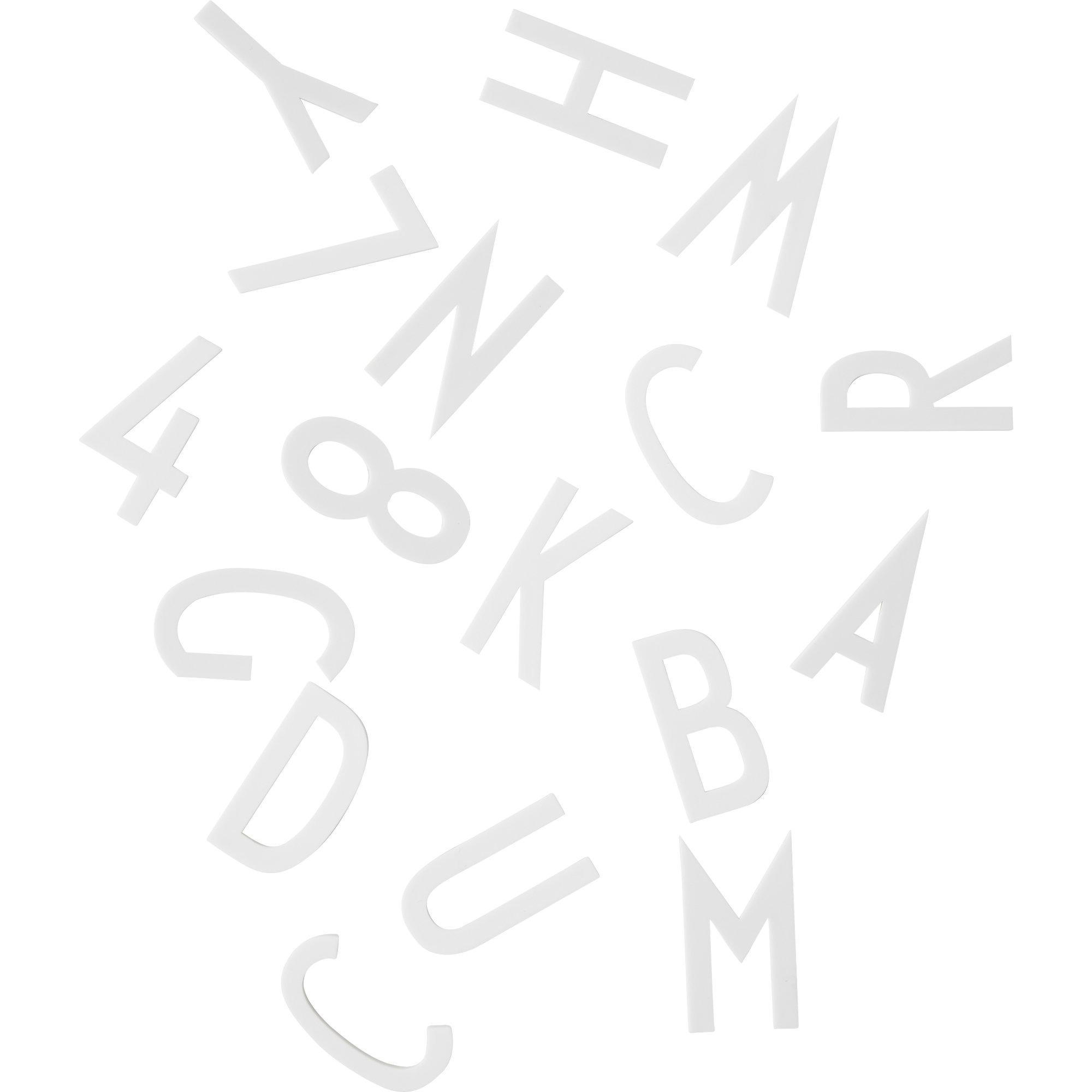 Design Letters Bokstäver 50 mm 159 del Vit