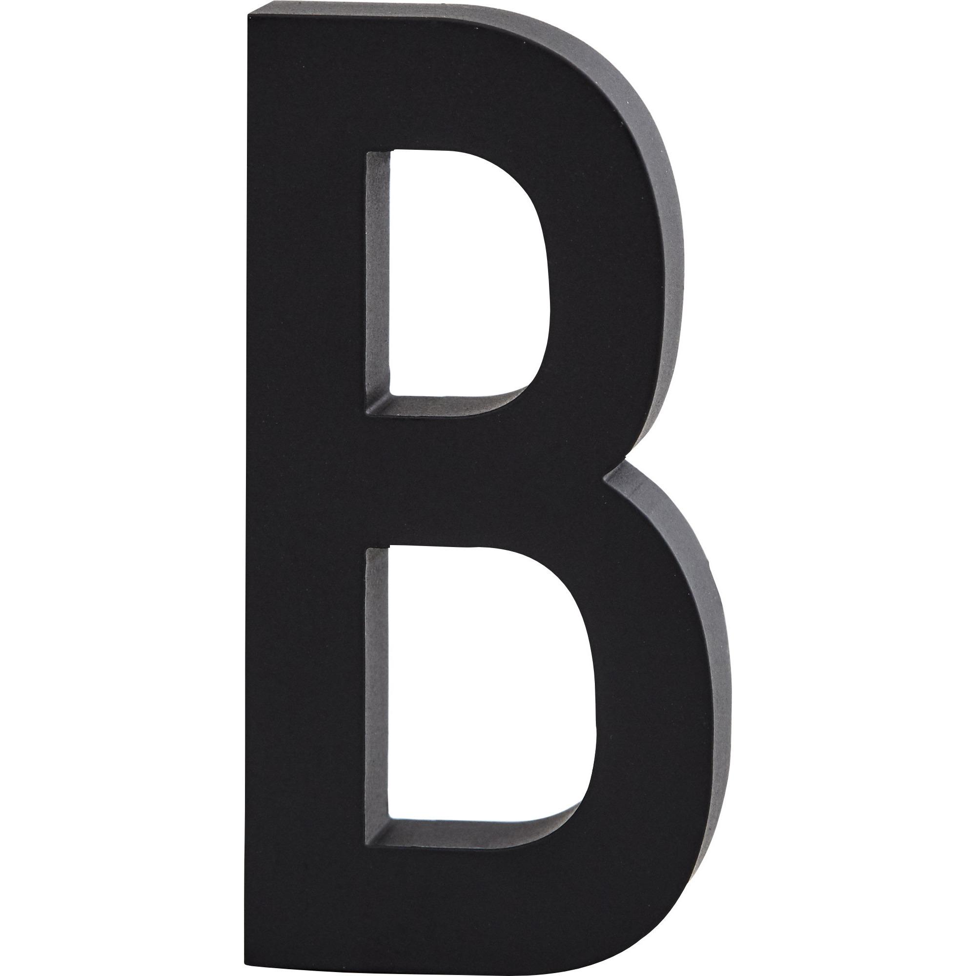 Design Letters Bokstav Grå i Aluminium 50 mm B