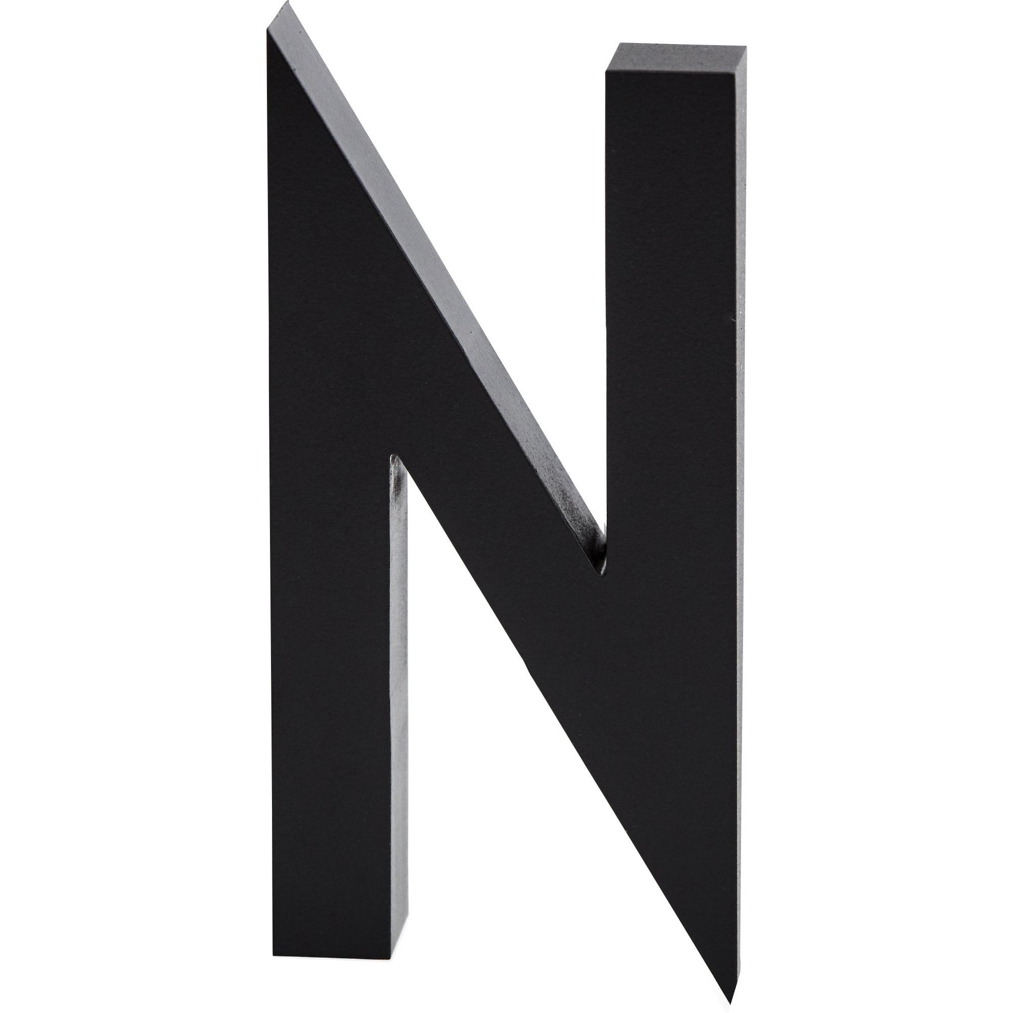 Design Letters Bokstav Grå i Aluminium 50 mm N