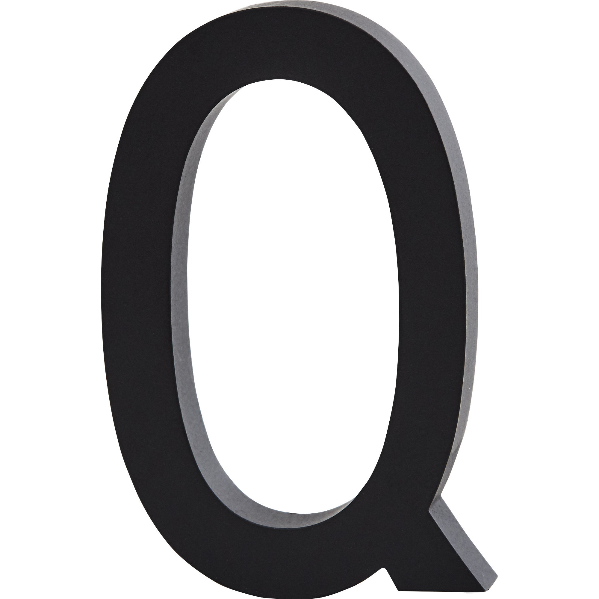 Design Letters Bokstav Grå i Aluminium 50 mm Q