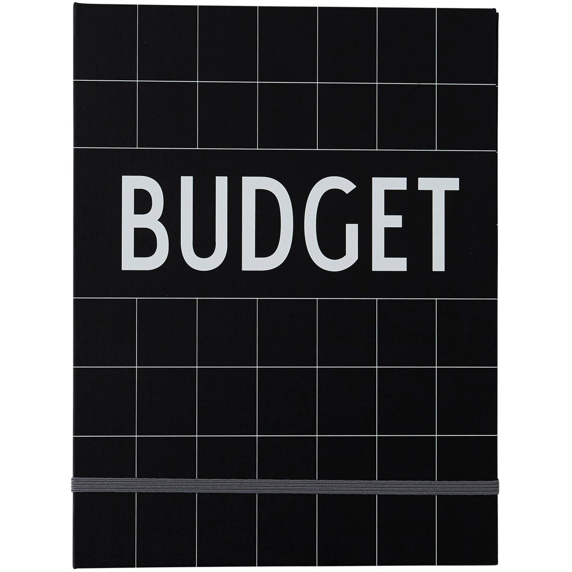 Design Letters Budget Book Svart